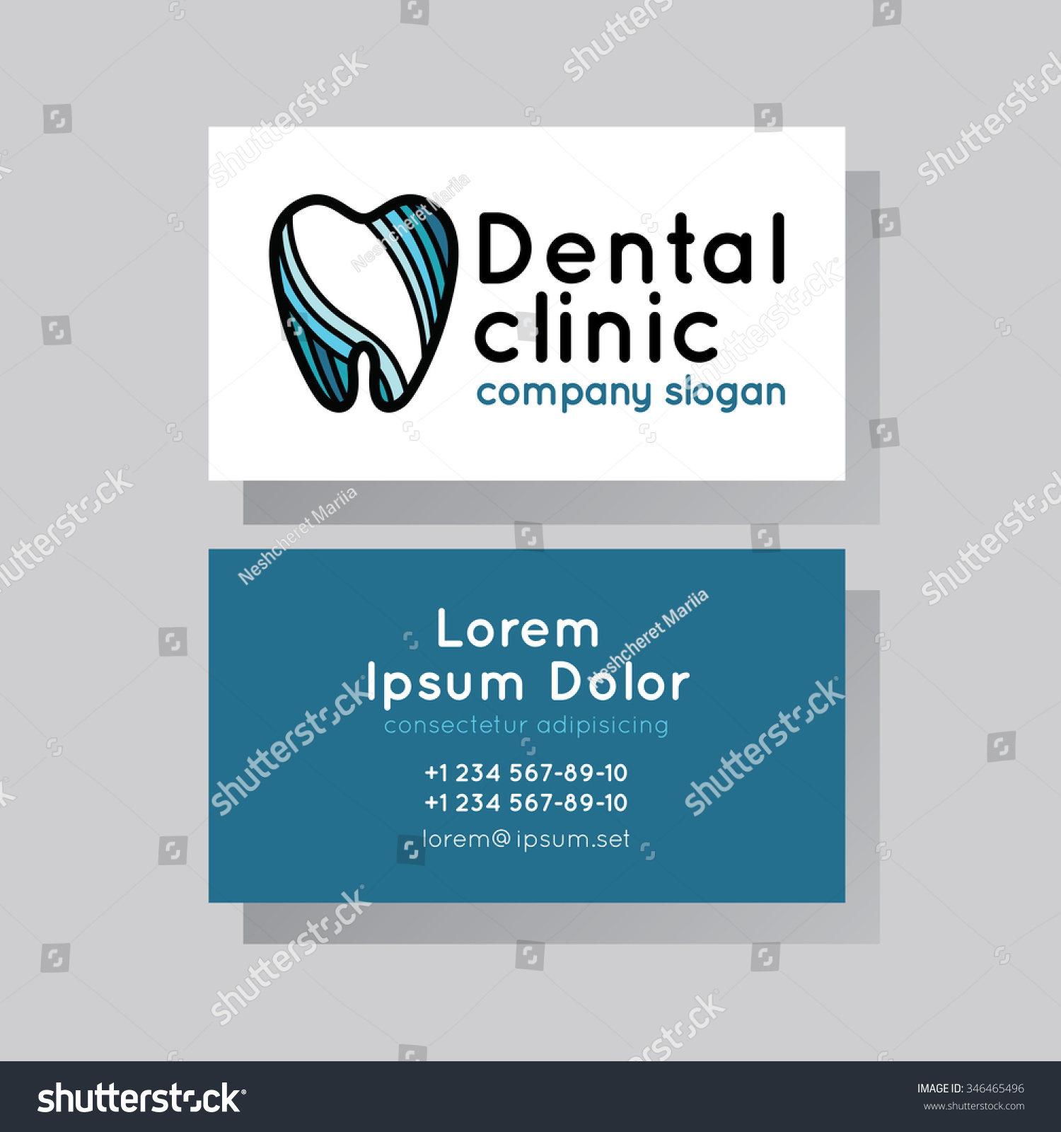 set business cards dentistry stock vector shutterstock
