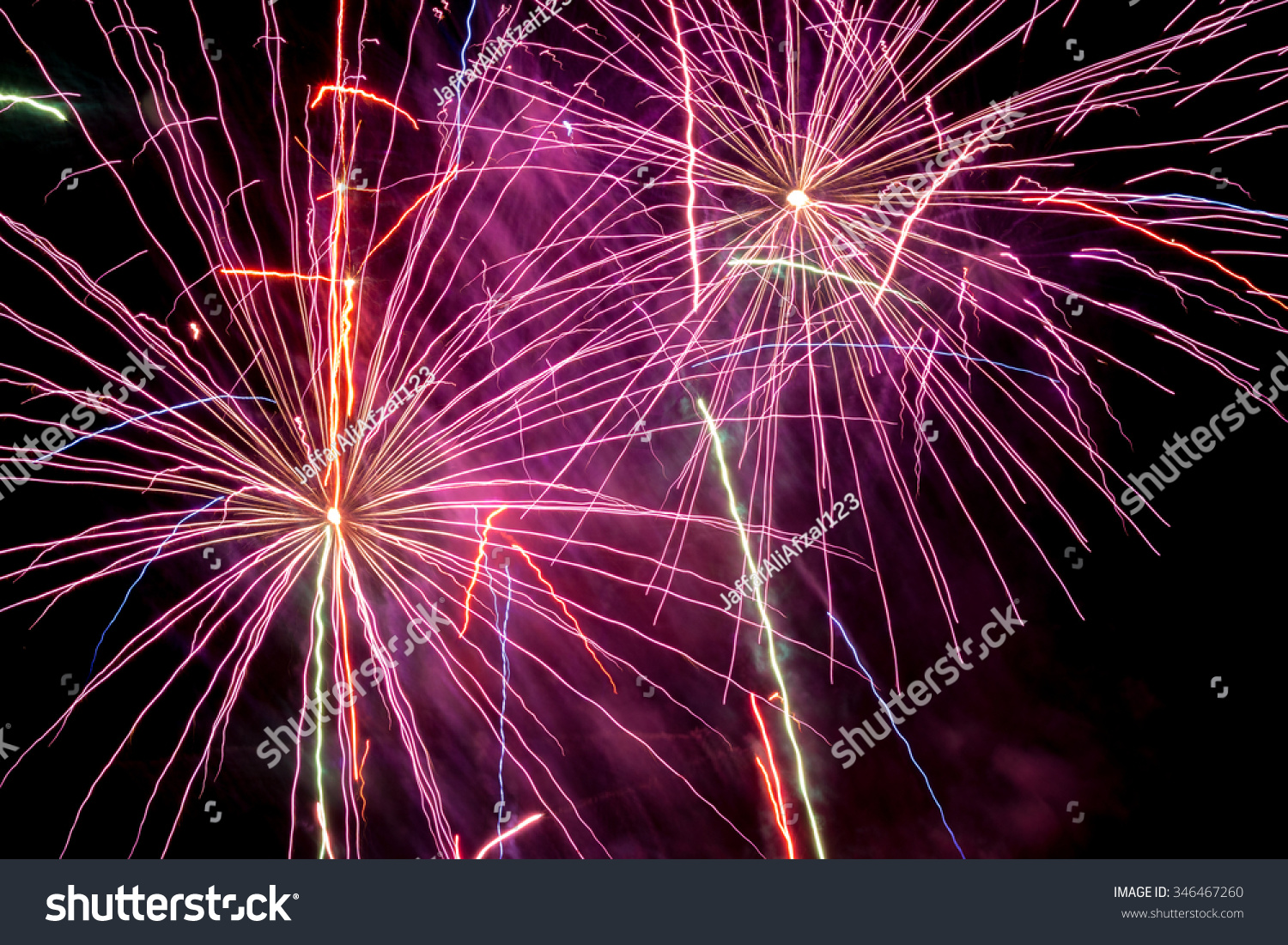 beautiful red fireworks in the night sky ez canvas