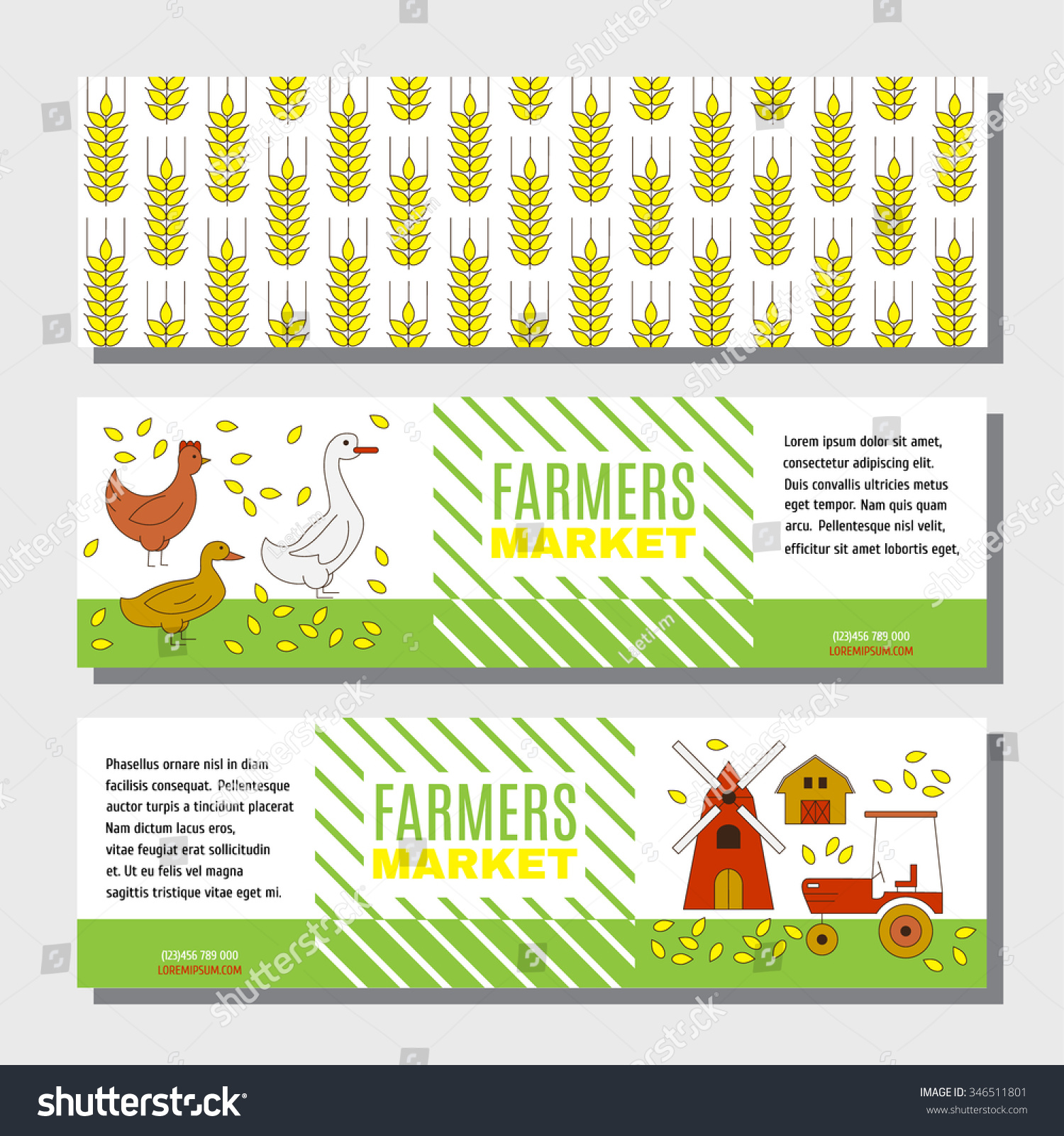 flyer banner information on farm products stock vector  flyer or banner for information on farm products cute background farm poultry tractor