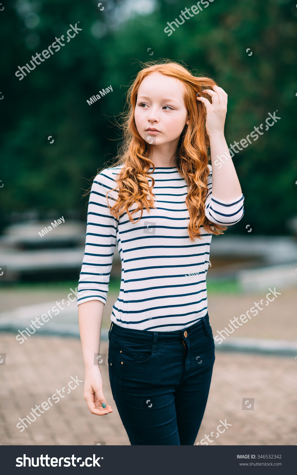 Ginger Curly Redhead Teen 88