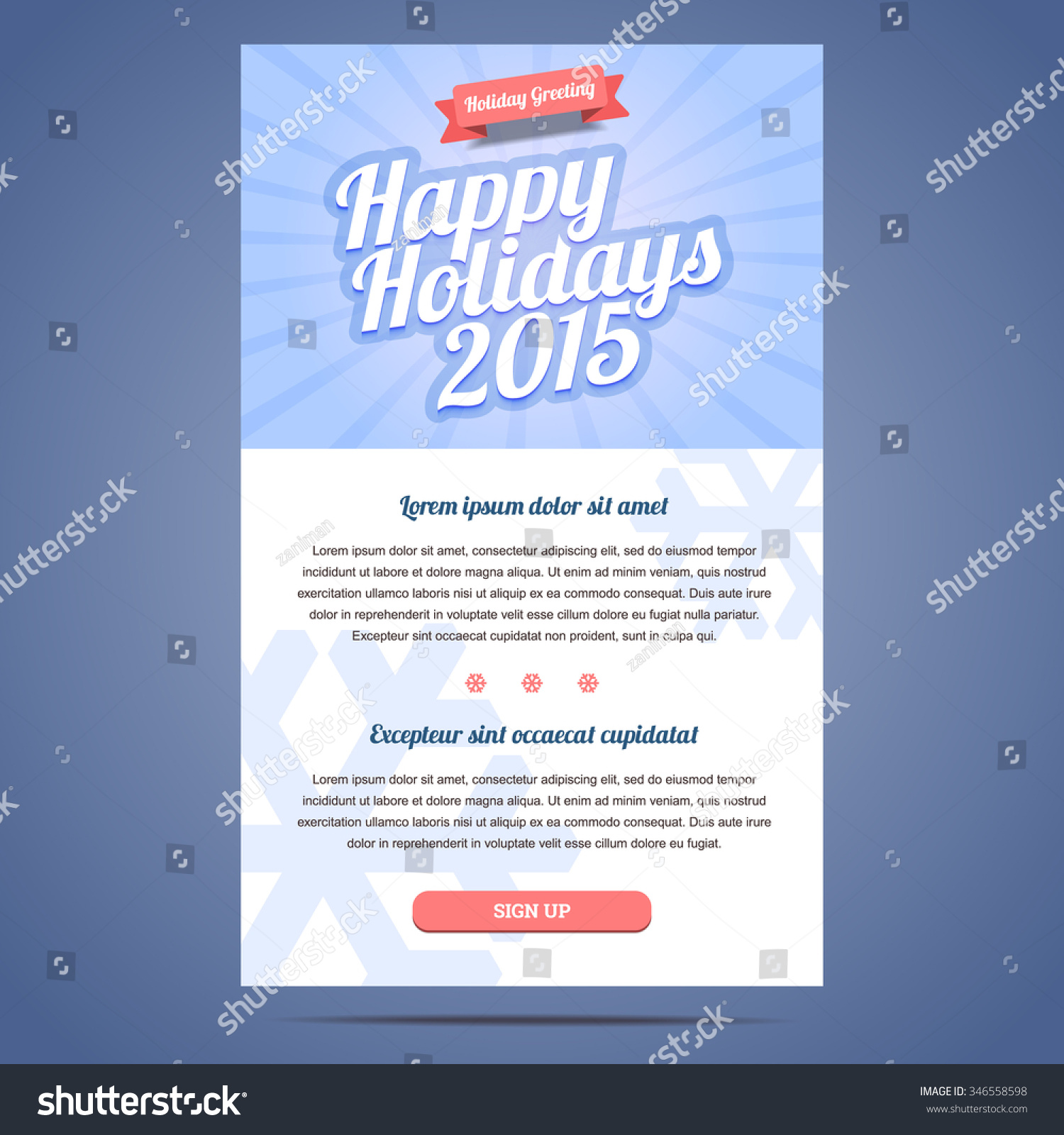 Email template greeting christmas happy new stock vector 346558598 email template with greeting christmas and happy new year vector illustration m4hsunfo