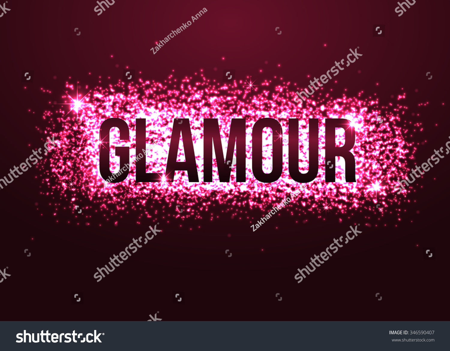 Glamour Pink Background Glitters Glamorous Background Stock Vector ...