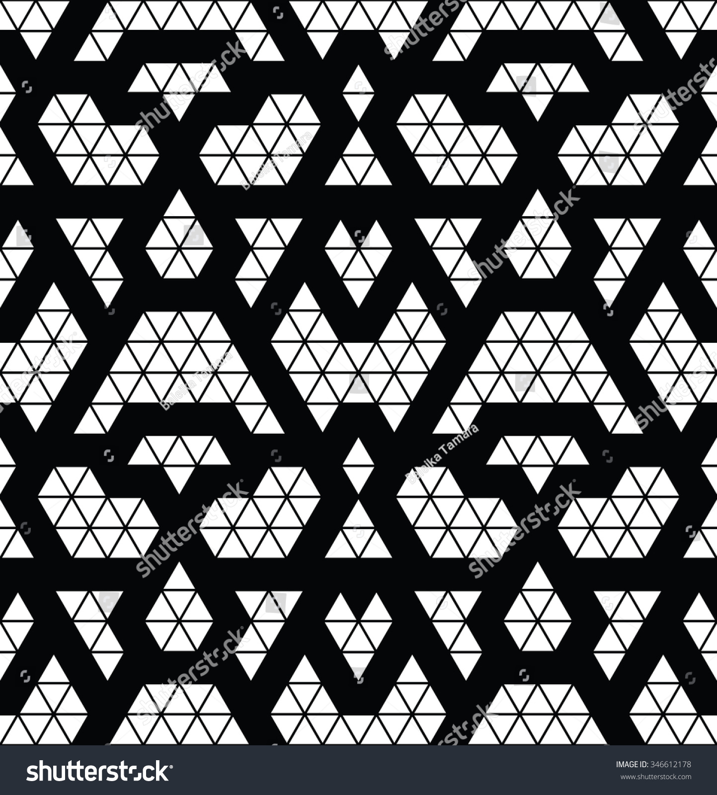 Tribal Monochrome Lace Trendy Modern Pattern Stock Vector 346612178 Shutterstock
