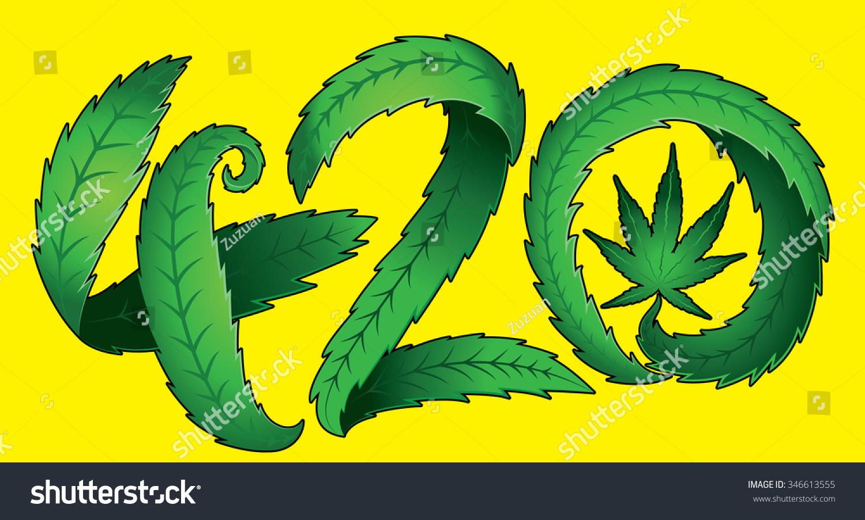 Green marijuana leaf 420 text vector stock vector 346613555 green marijuana leaf 420 text vector illustration biocorpaavc