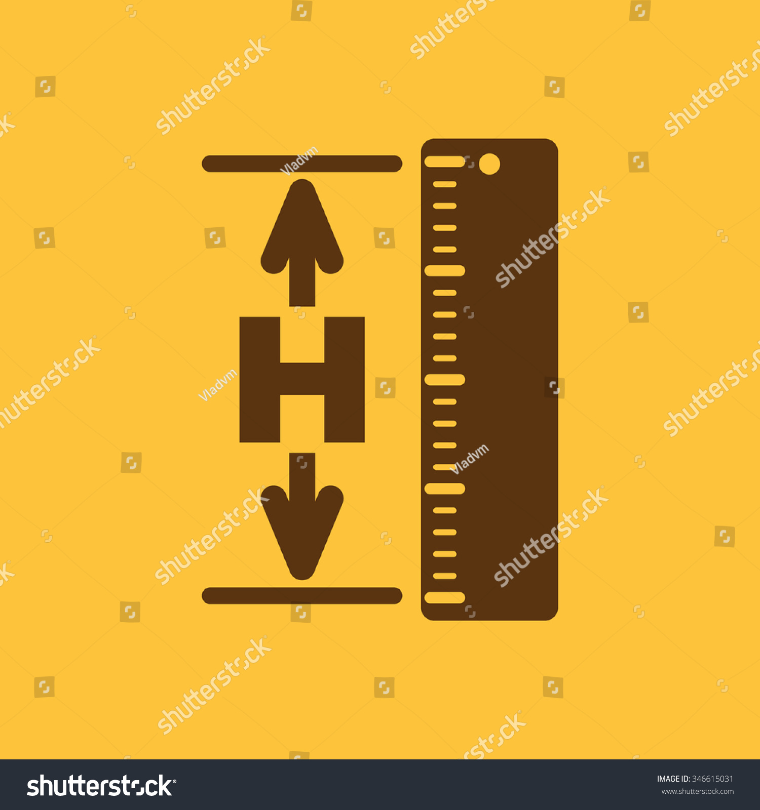 Height Icon Altitude Elevation Level Hgt Stock Vector - Altitude elevation