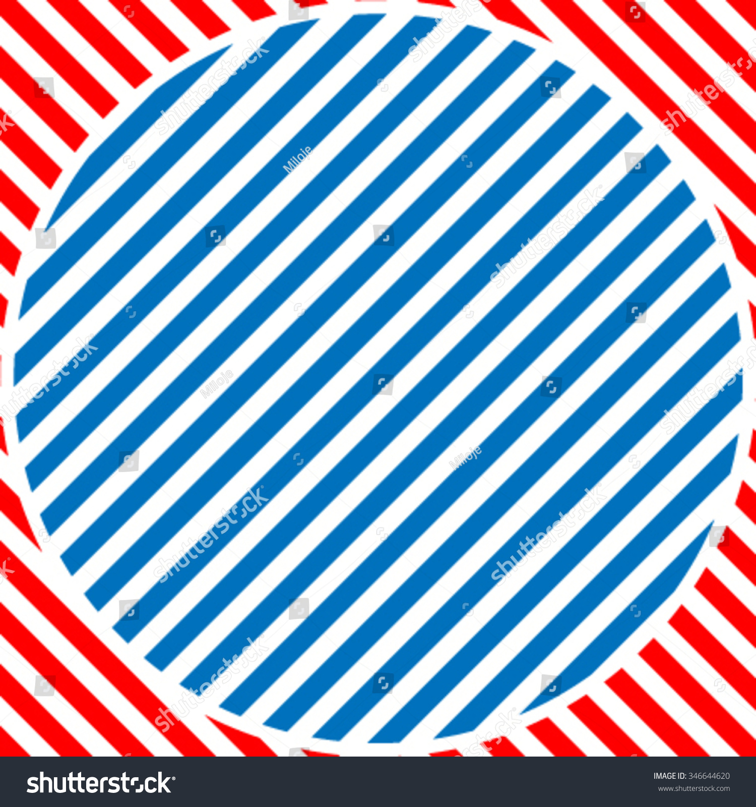 Vector Striped Square Circle Triangle Lines Stock Vector 309394385 ...