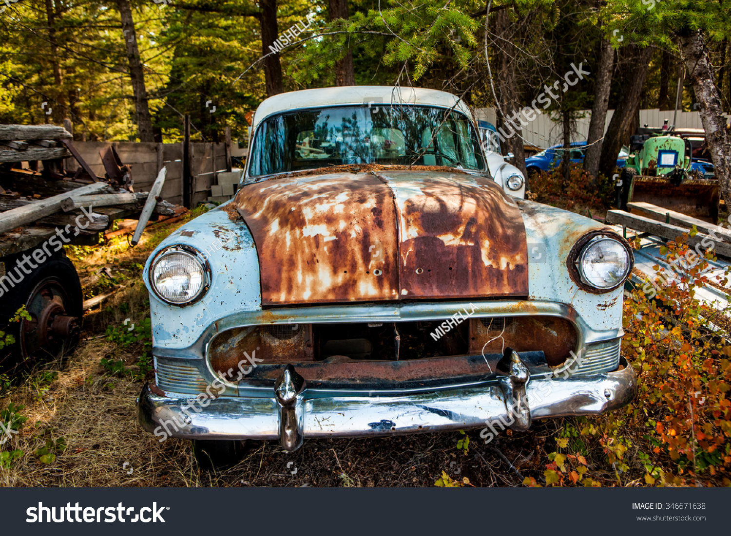 Kalispell MT August 2 Old Cars Stock Photo (Royalty Free) 346671638 ...
