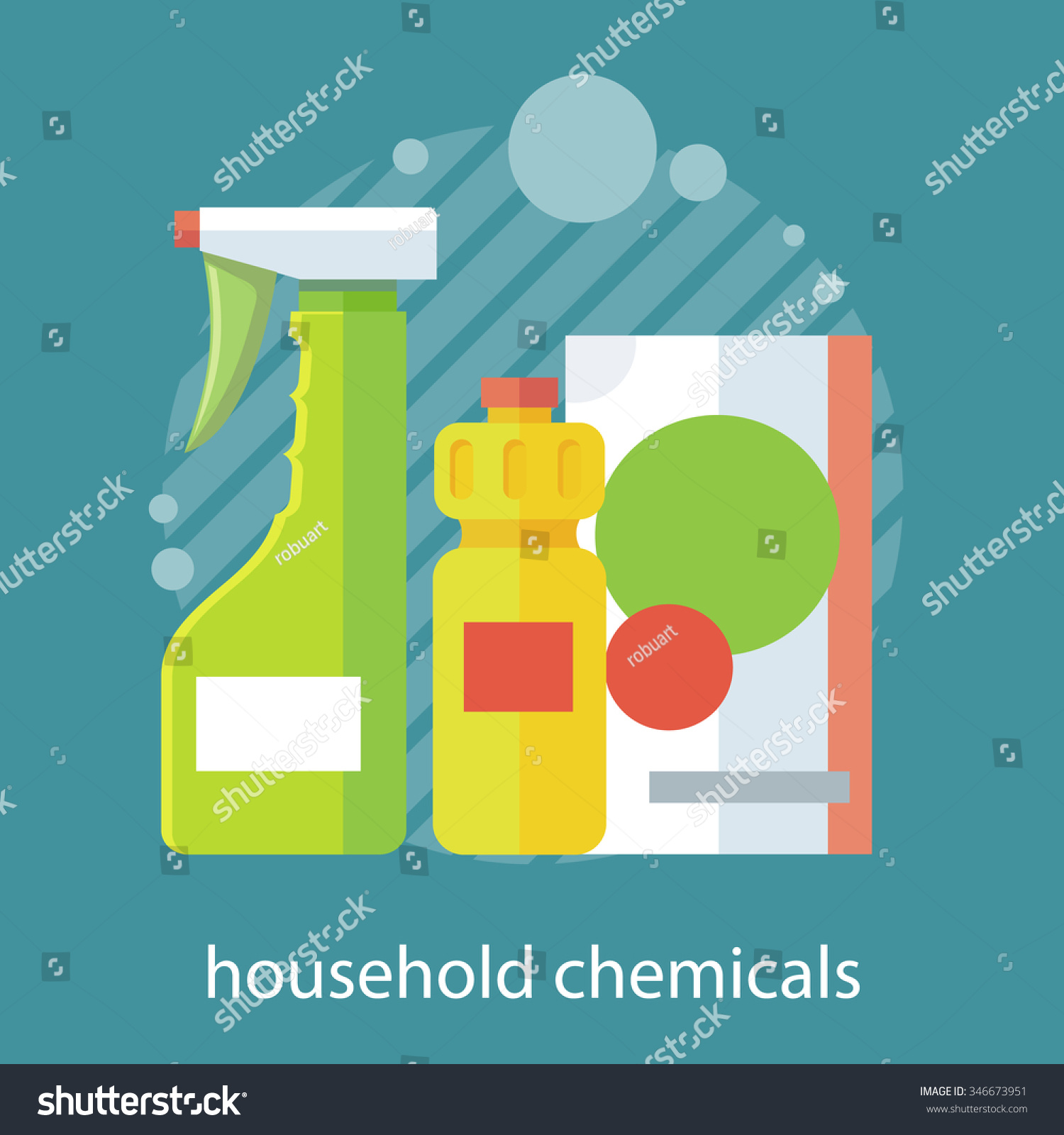 Household chemical flat design household appliances stock for Household appliances design