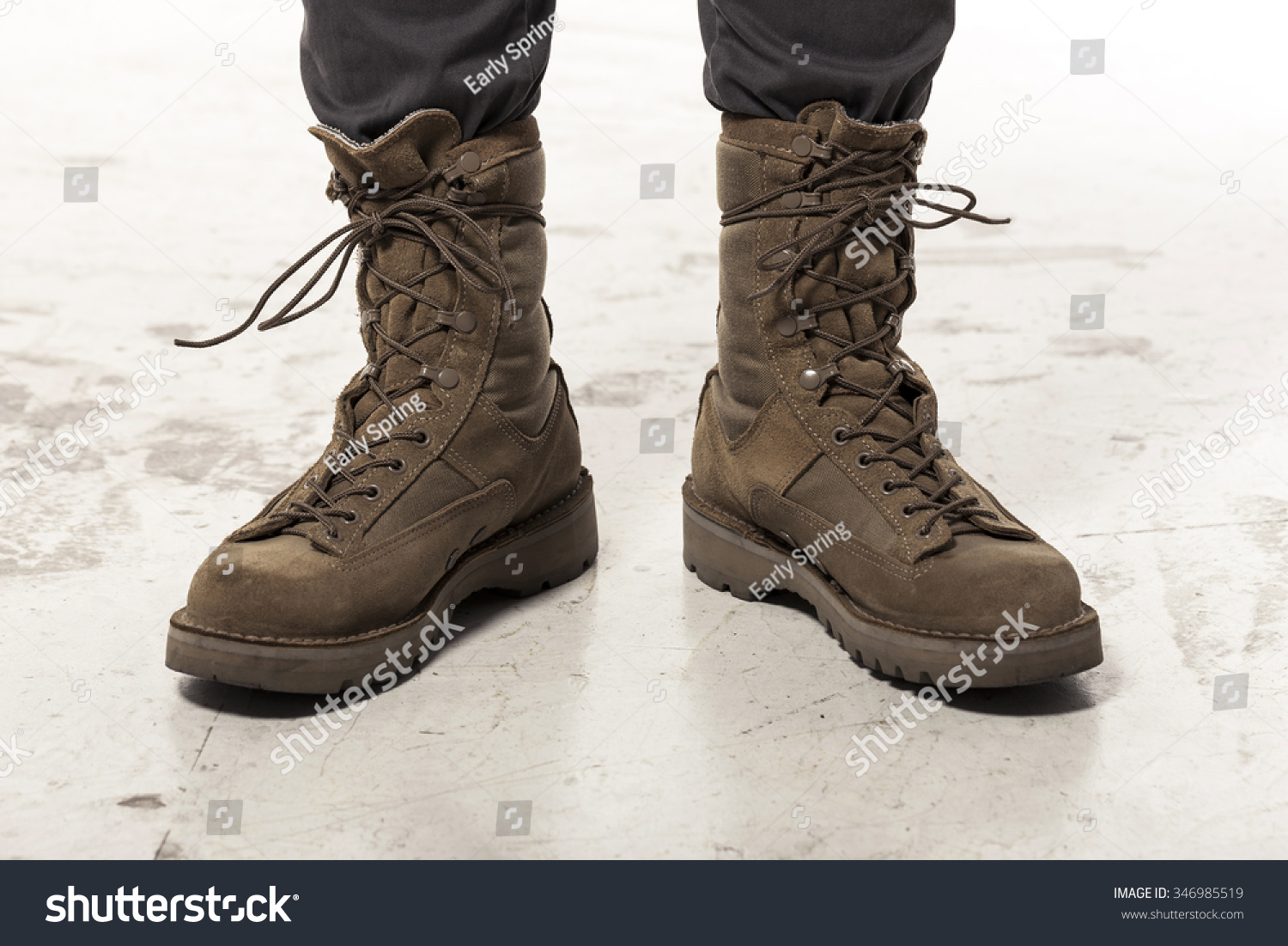 Brown Military Combat Boots Bsrjc Boots