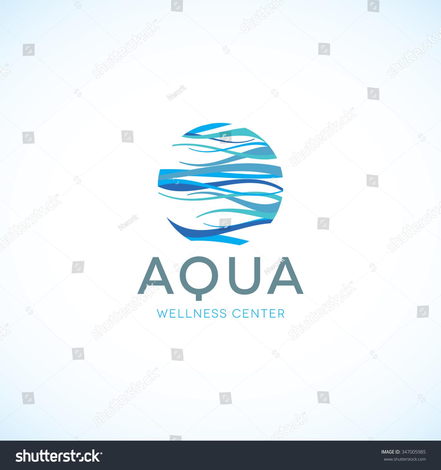 Spa wellness logo  Water Logo Aqua Logo Wellness Logo Stock-vektorgrafik 347005985 ...
