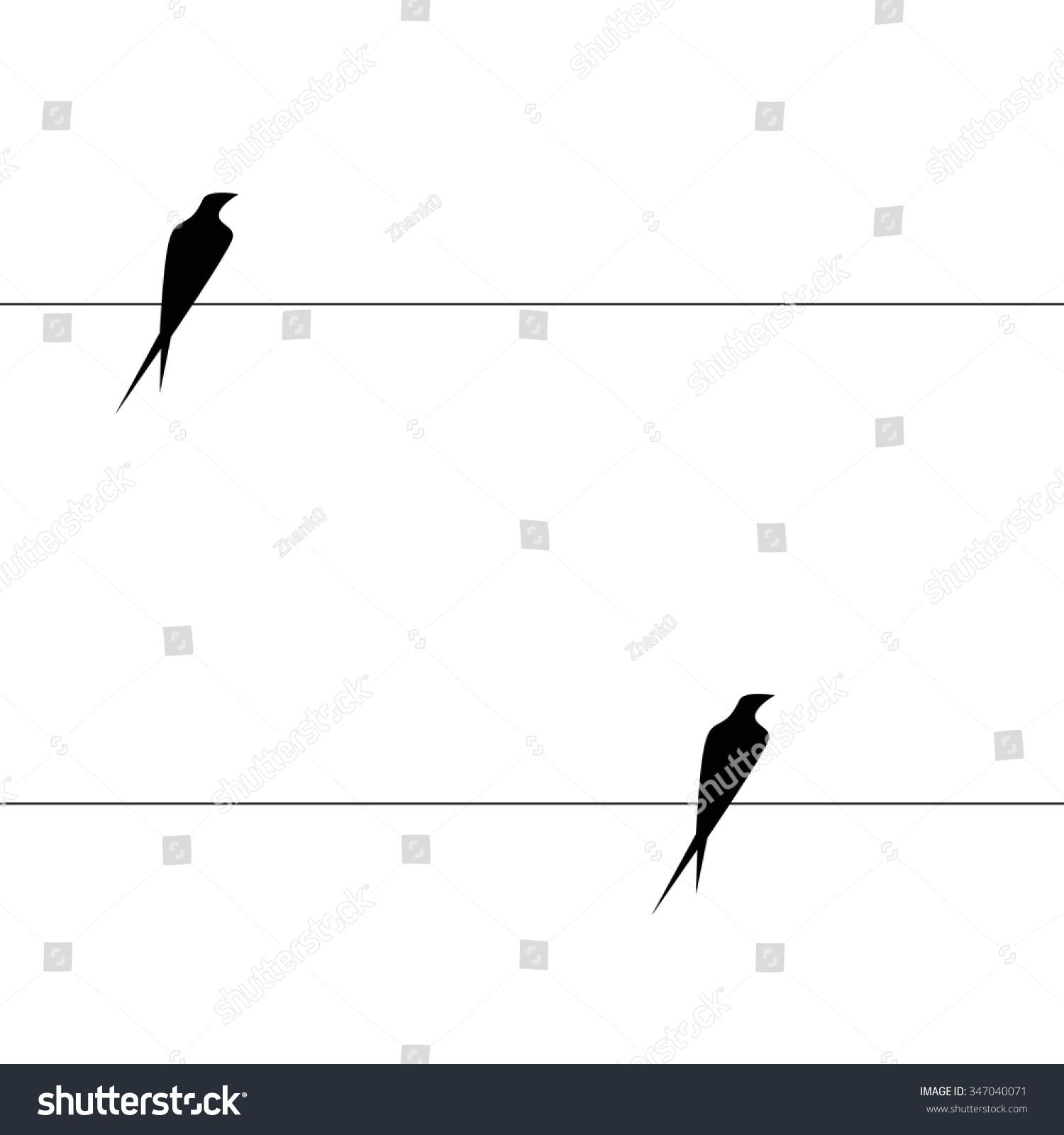 Vector Endless Minimalistic Pattern Black Birds Stock Vector ...