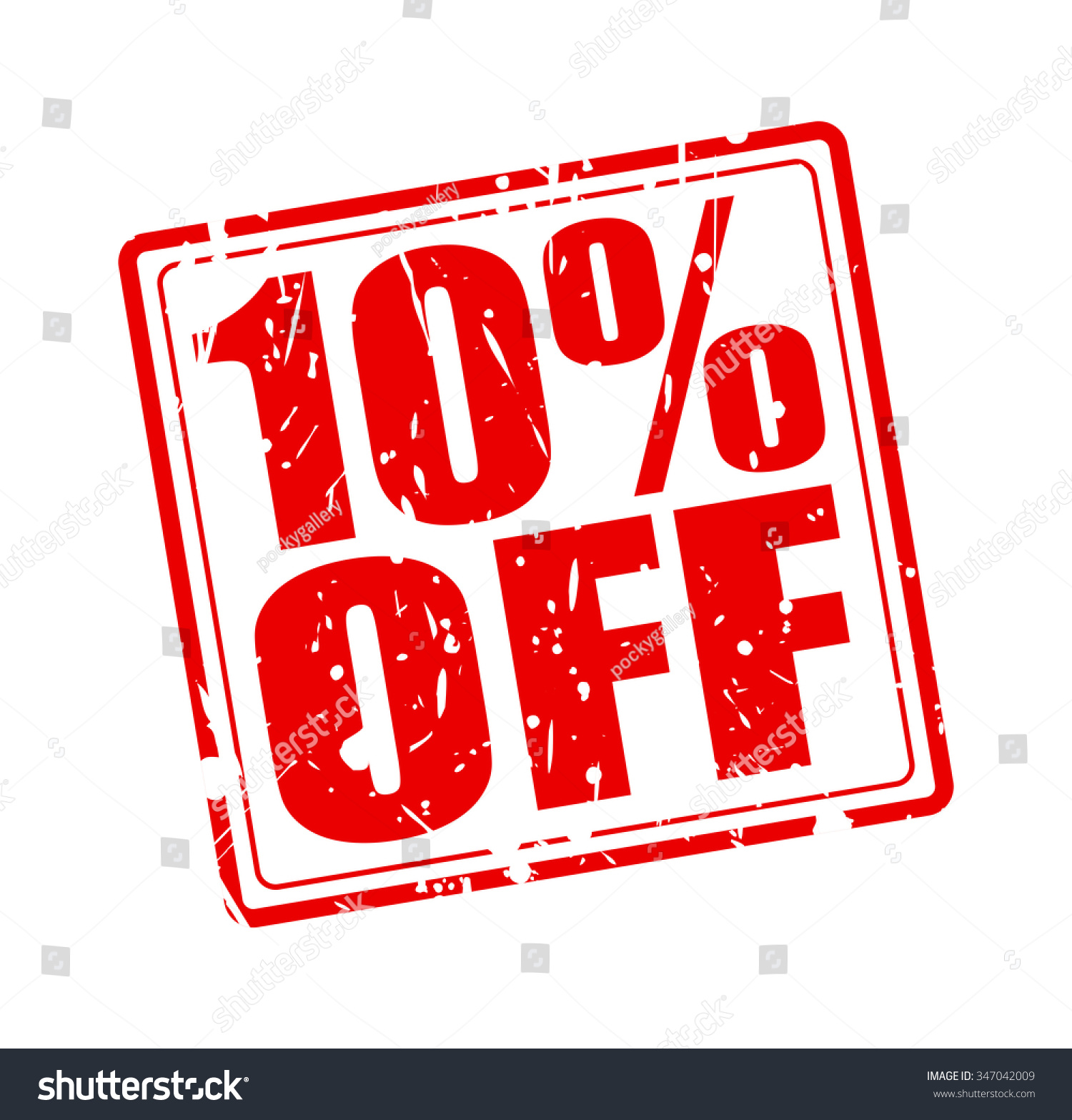 10 Off Red Stamp Text On Stock Vector 347042009 Shutterstock