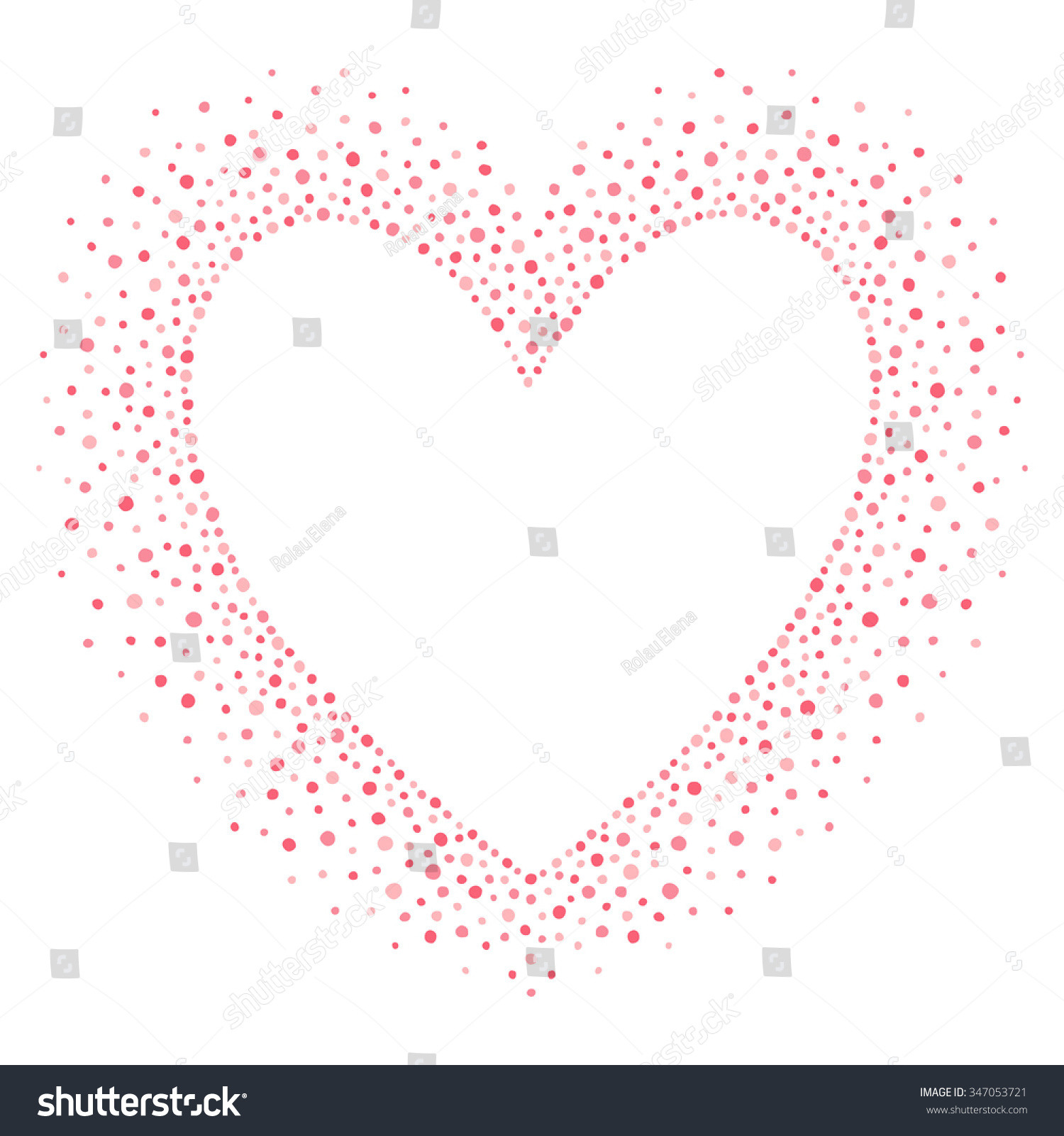 Big Heart Shape Frame Empty Space Stock Vector (Royalty Free ...