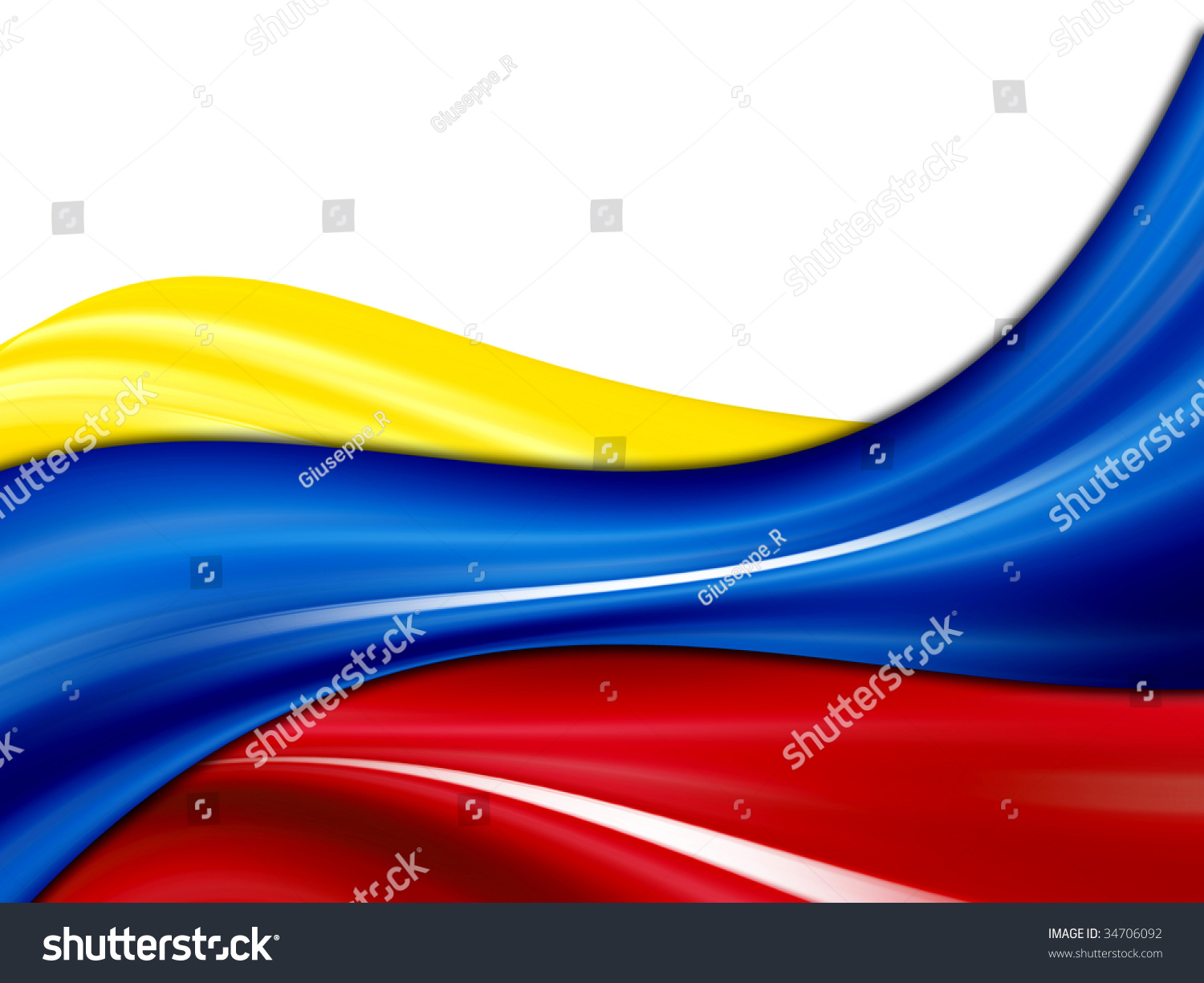 colombia waves flag yellow blue red stock illustration 34706092 shutterstock. Black Bedroom Furniture Sets. Home Design Ideas
