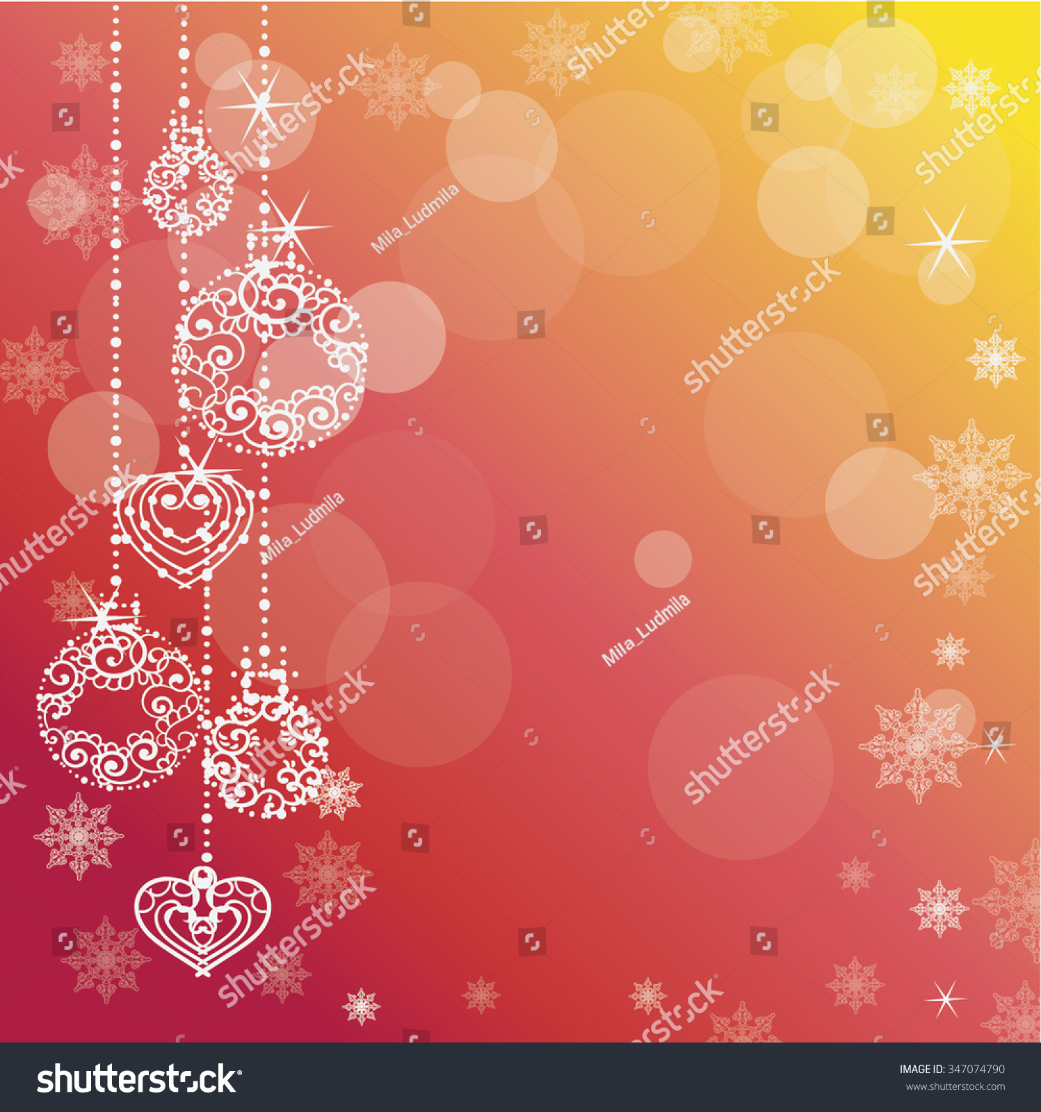 Merry Christmas Happy New Year Background Stock Vector Royalty Free
