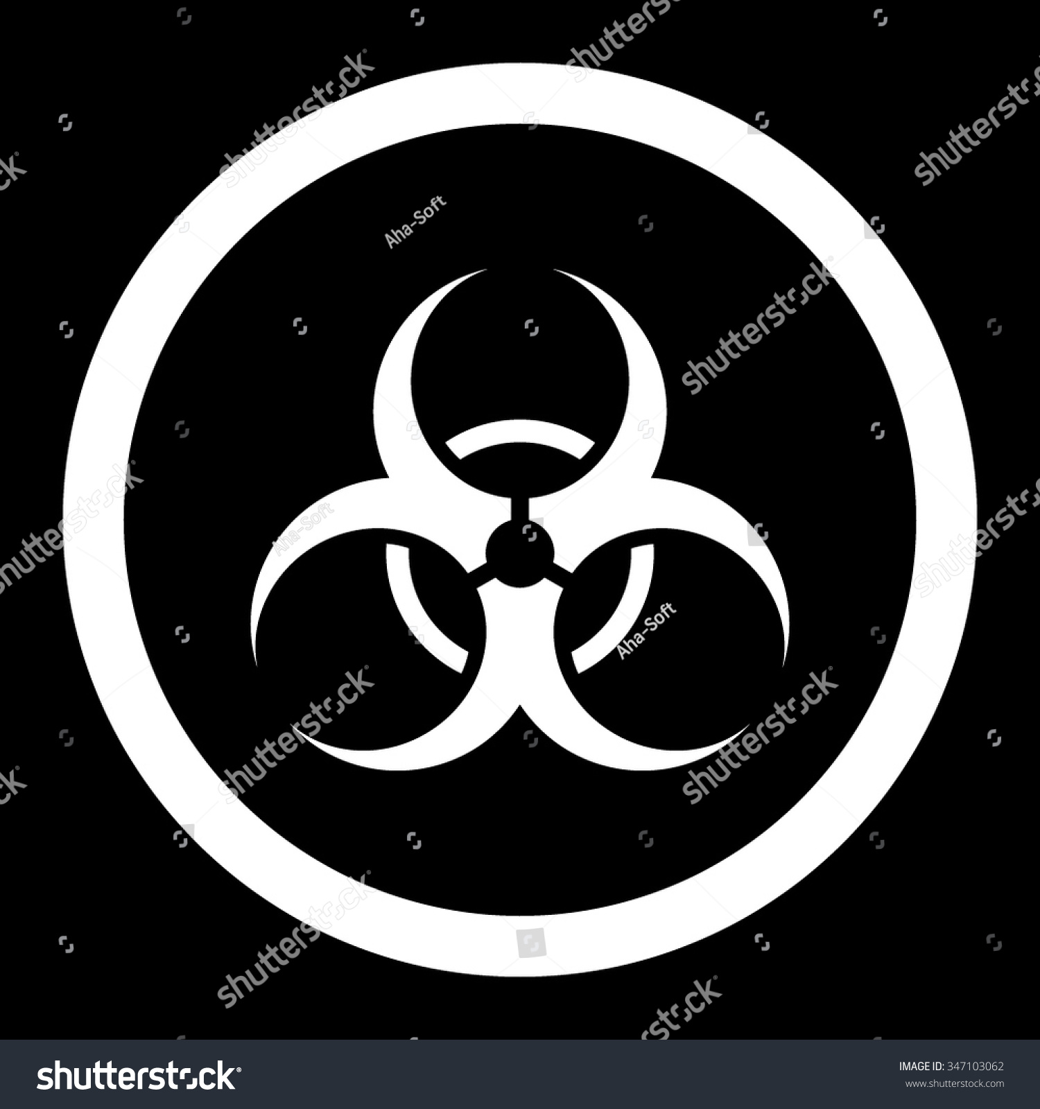 Toxic symbol black vector icon network equipment list critical biohazard symbol vector icon style flat stock vector 347103062 stock vector biohazard symbol vector icon style biocorpaavc Images