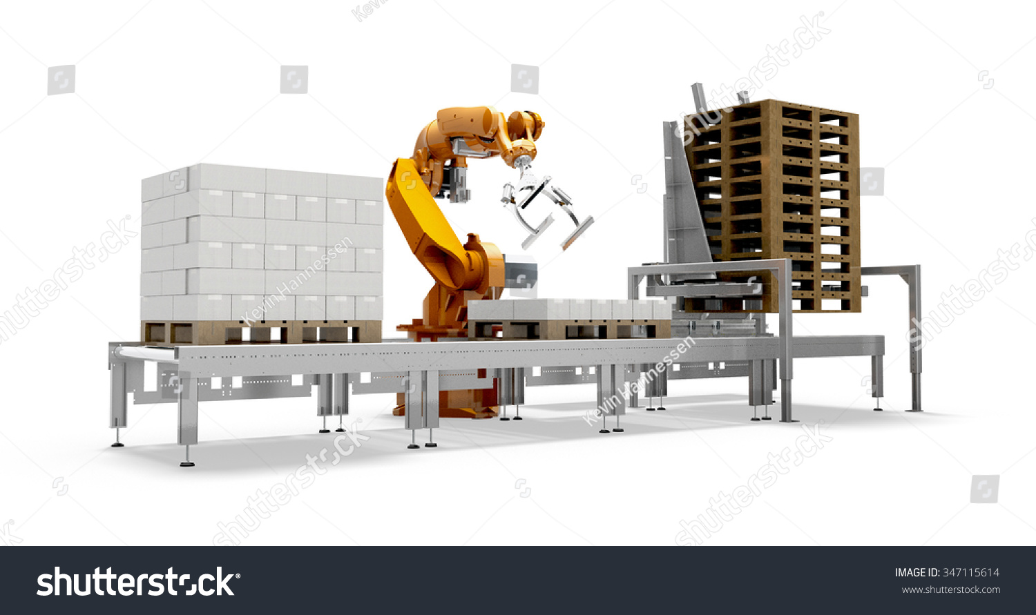 Arm robot palletizer