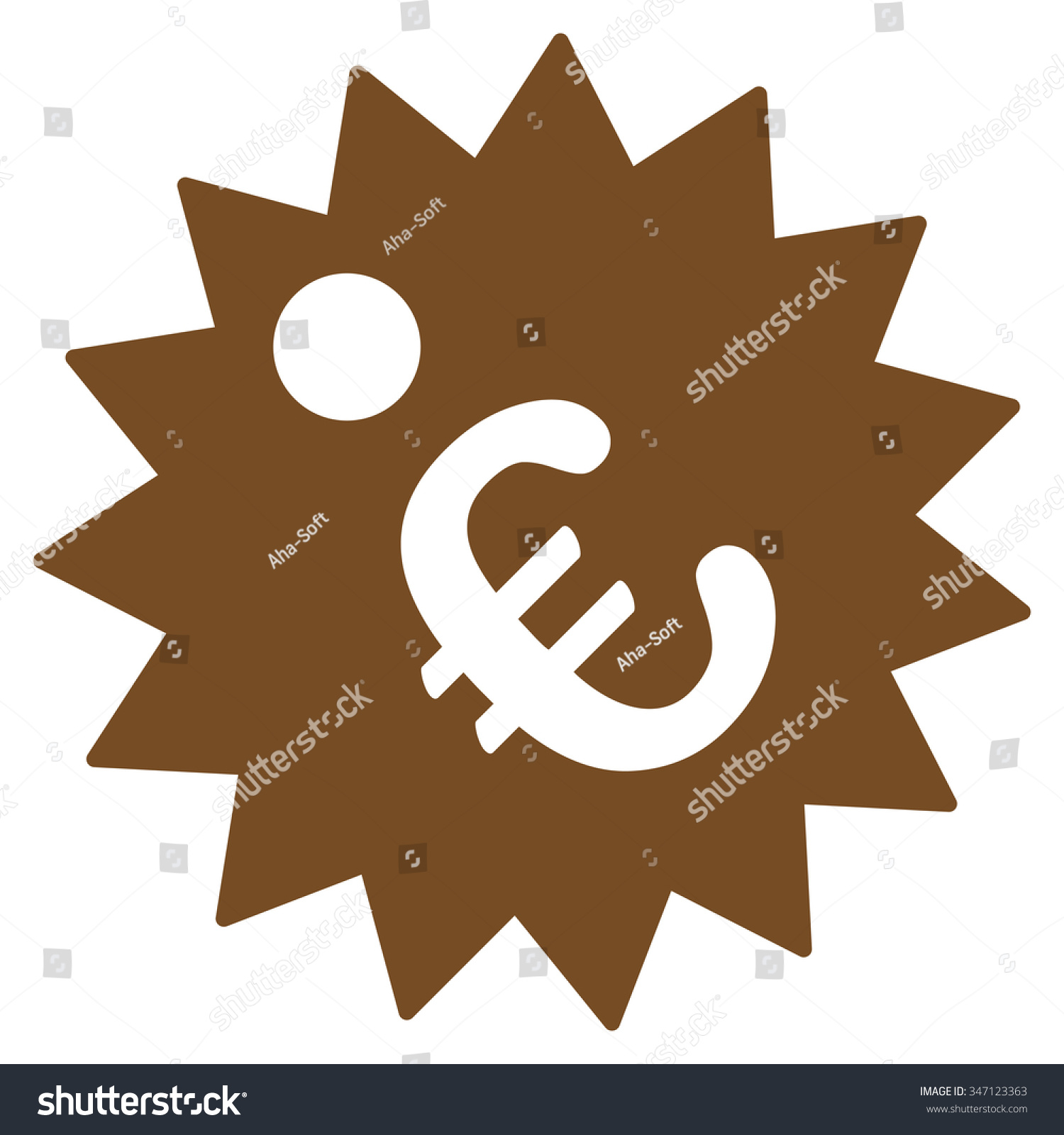 Euro price tag glyph icon style stock illustration 347123363 euro price tag glyph icon style is flat symbol brown color rounded angles biocorpaavc