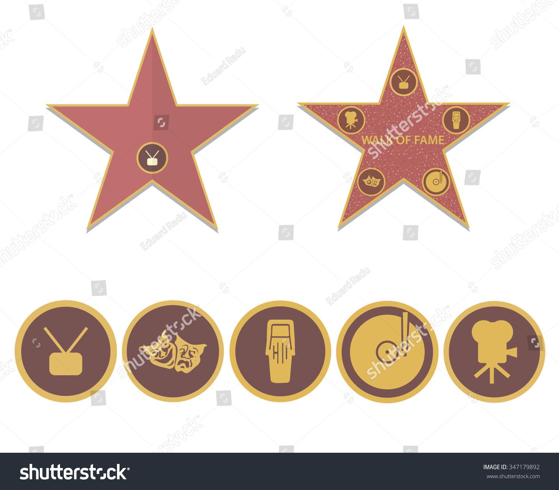 Walk Of Fame Stars Stock Vector Illustration 347179892