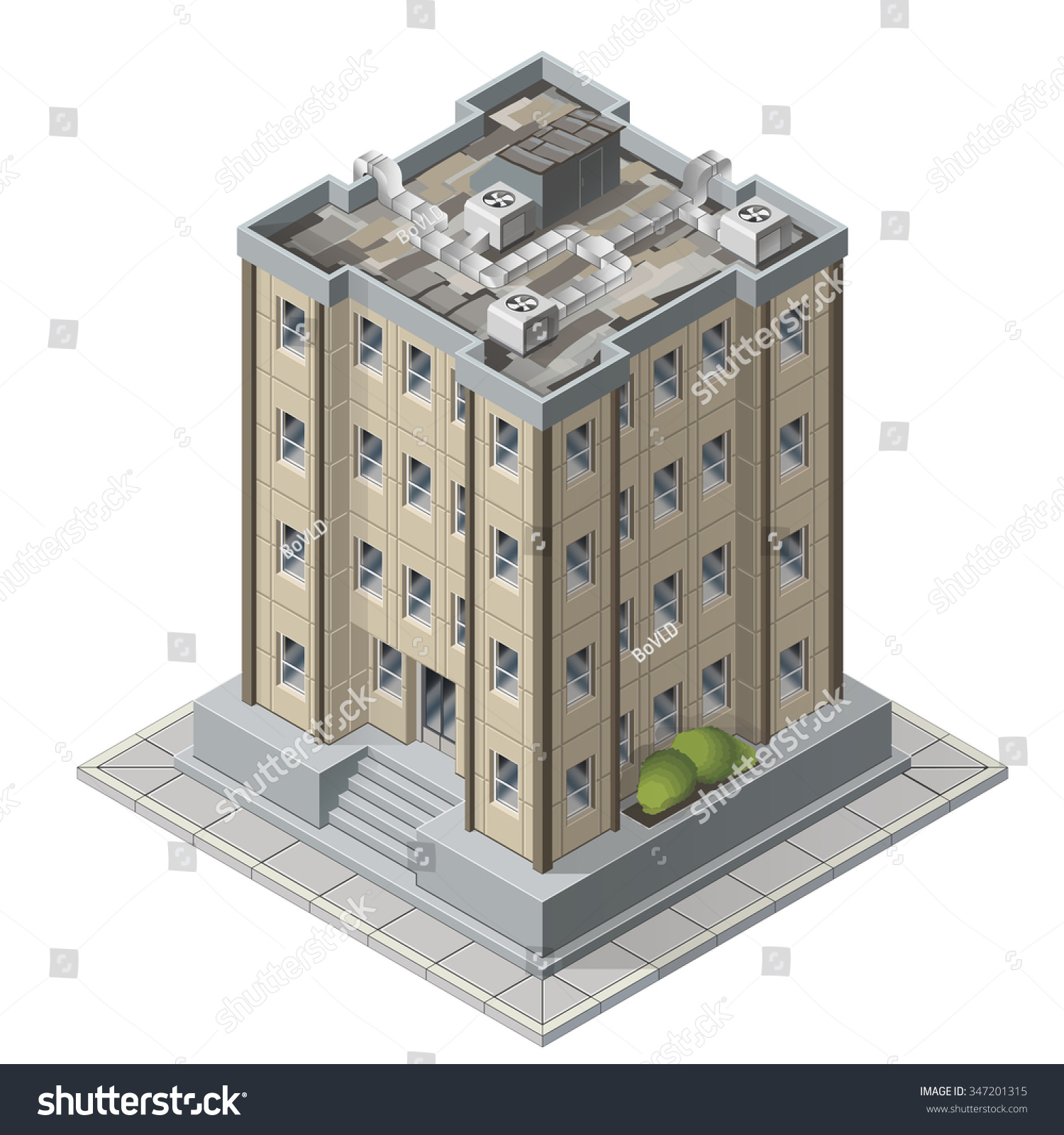 high rises isometric building icons game stock vector