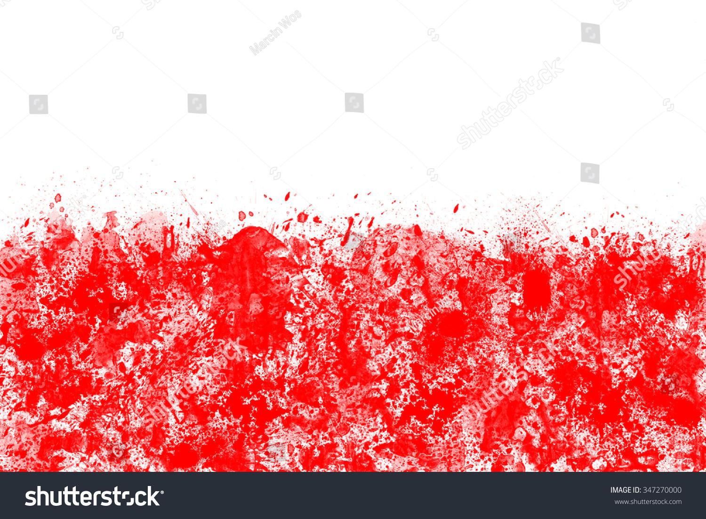 polish flag created splash colors white stock illustration