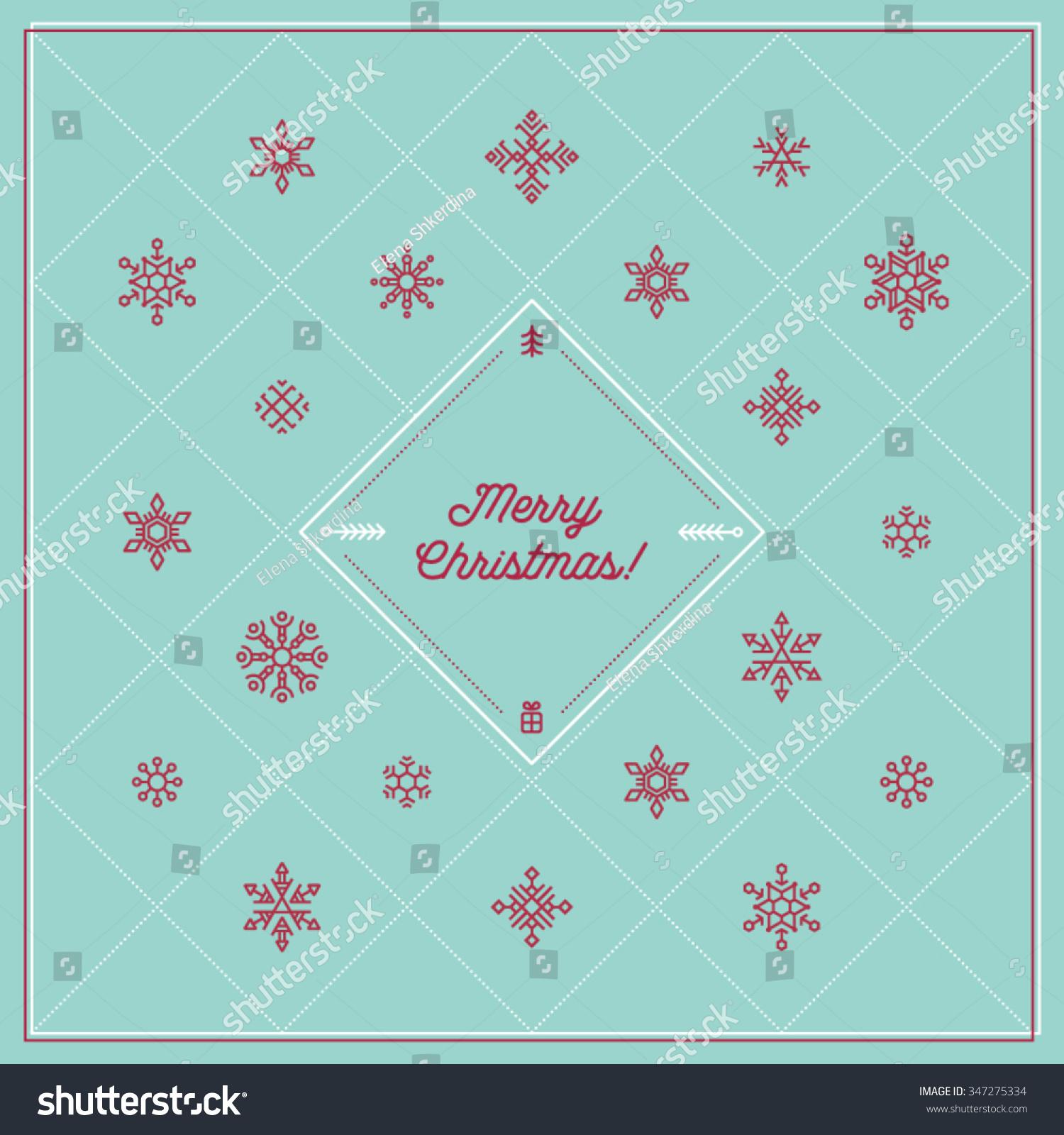 Neat Corporative Greeting Christmas Card Motivating Stock Vector