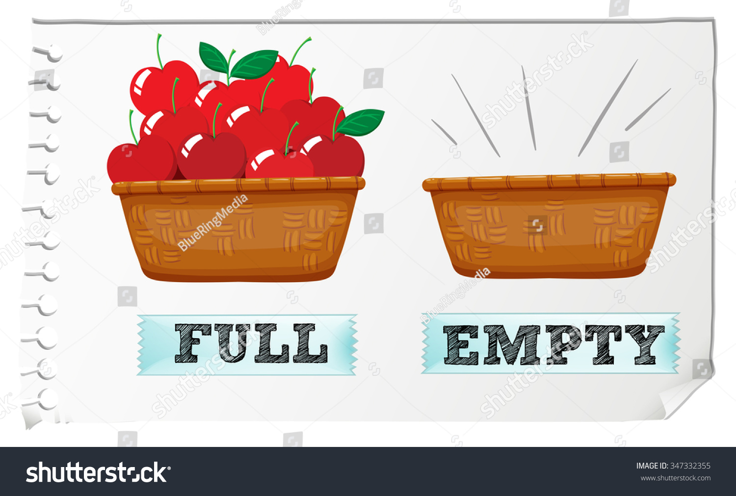 Worksheet Full And Empty opposite adjective full empty illustration stock vector 347332355 and illustration