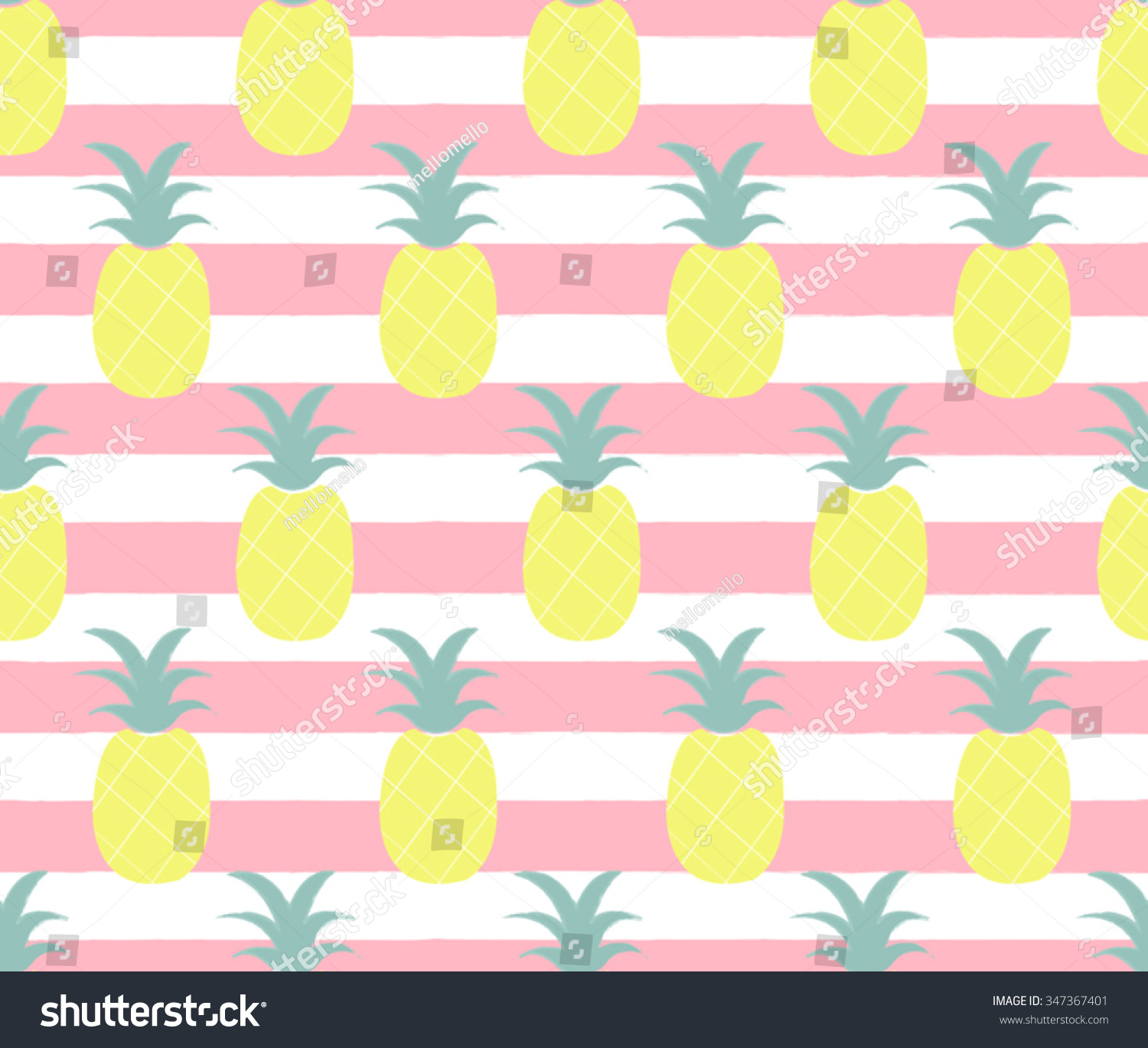 Cute Pineapple On Striped Pink Background Stock Vector 347367401 ... for Cute Pineapple Wallpaper  75tgx