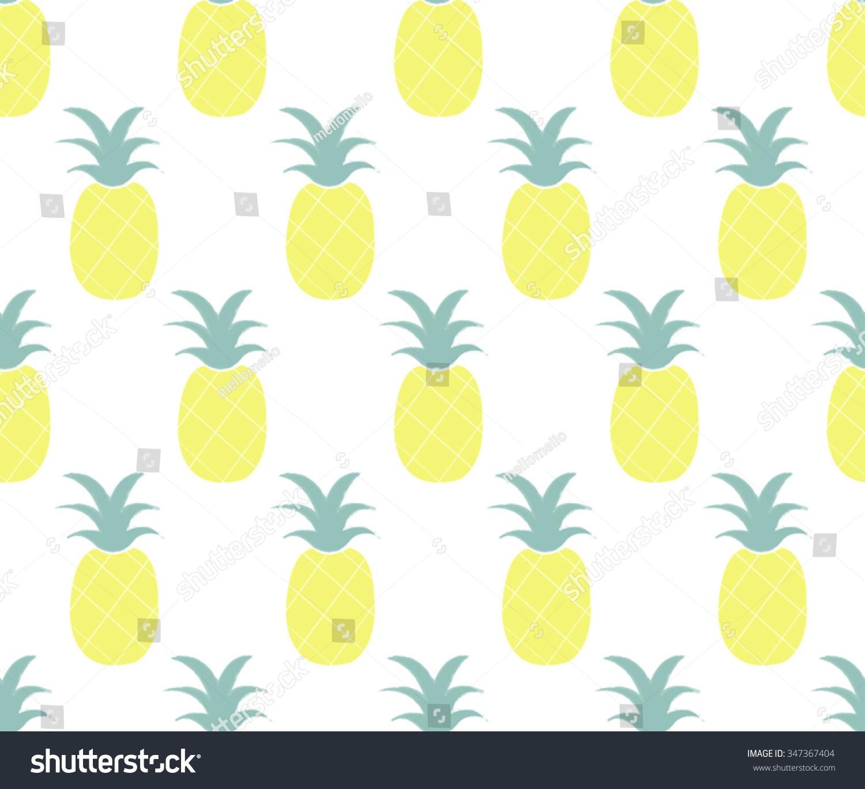 Cute Pineapple On Cream Background Design Seamless