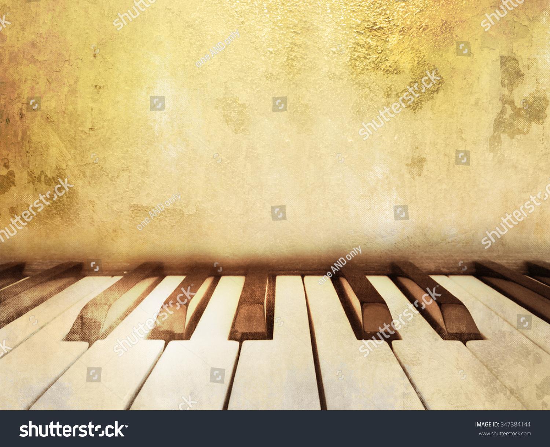 Vintage piano keys background