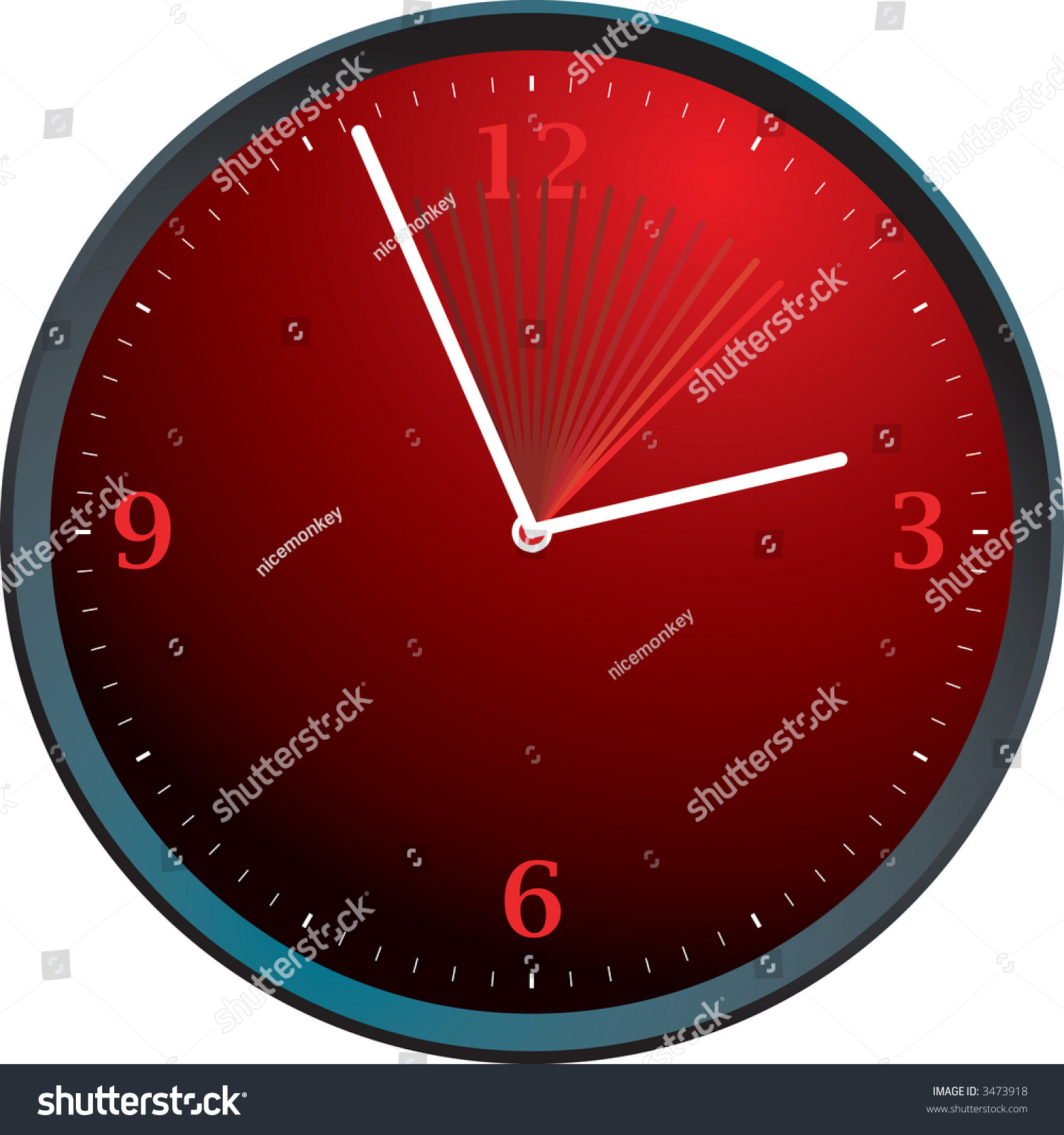 illustration of a clock showing the second hand moving 3473918 shutterstock. Black Bedroom Furniture Sets. Home Design Ideas