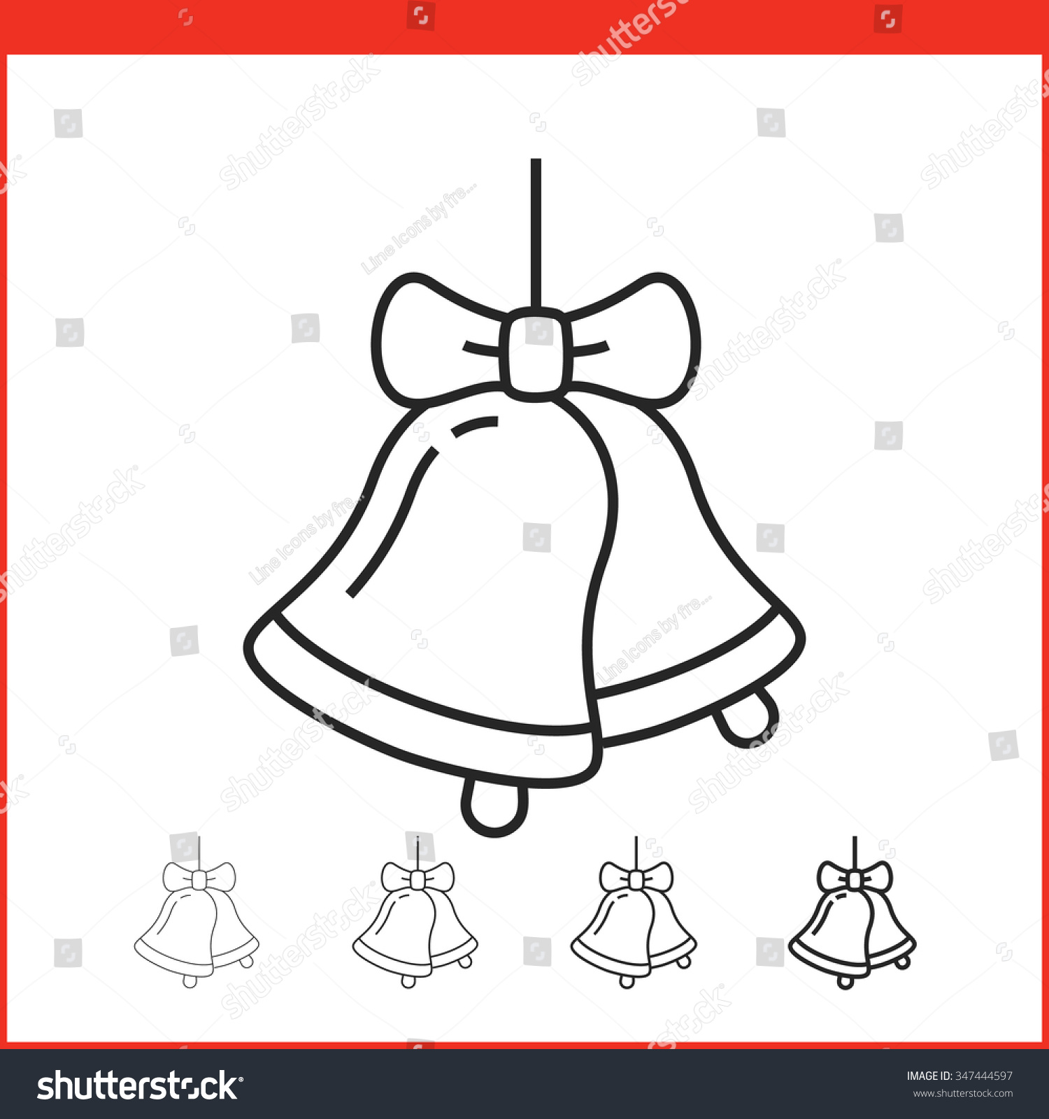 Christmas bell drawing for kids