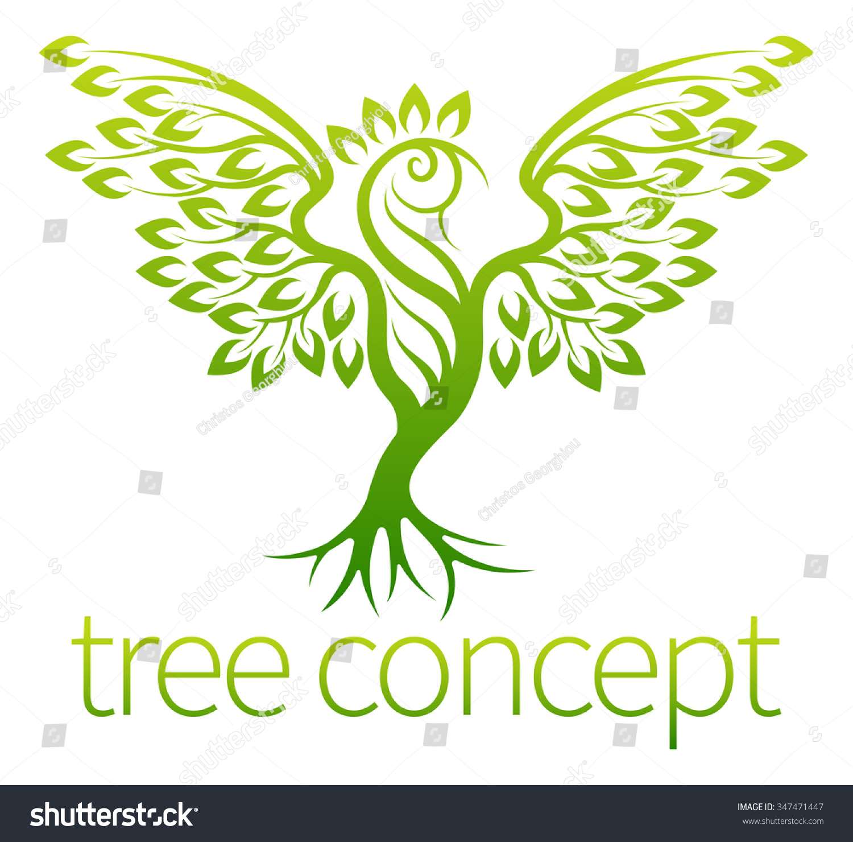 Bird Tree Concept Icon Tree Growing Stock Vector 347471447 ...