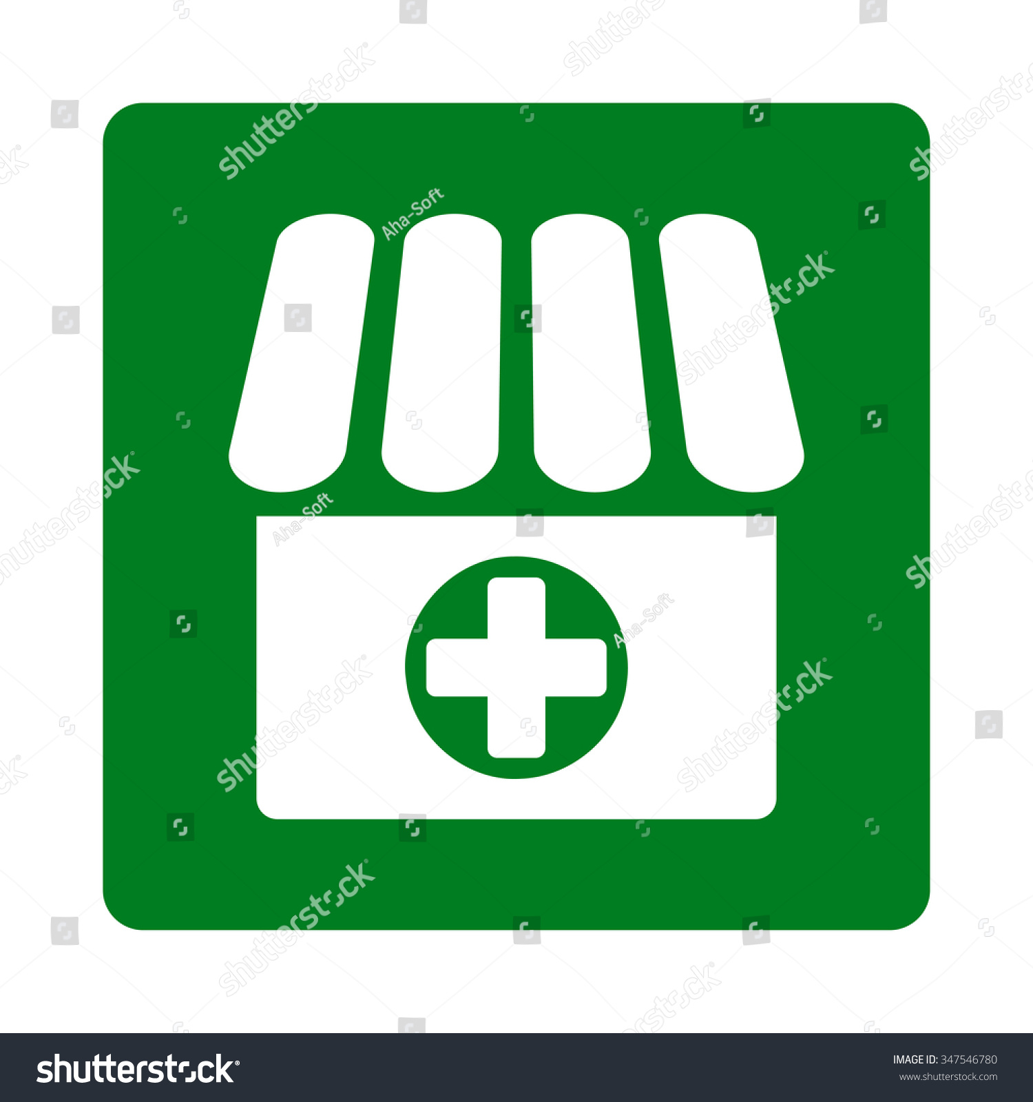 Medical Store Vector Icon Style Flat Stock Vector Royalty Free