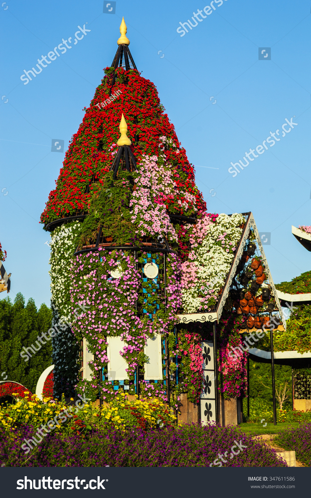 Flower Exhibition Dubai Miracle Garden 2015 Stock Photo (Edit Now ...