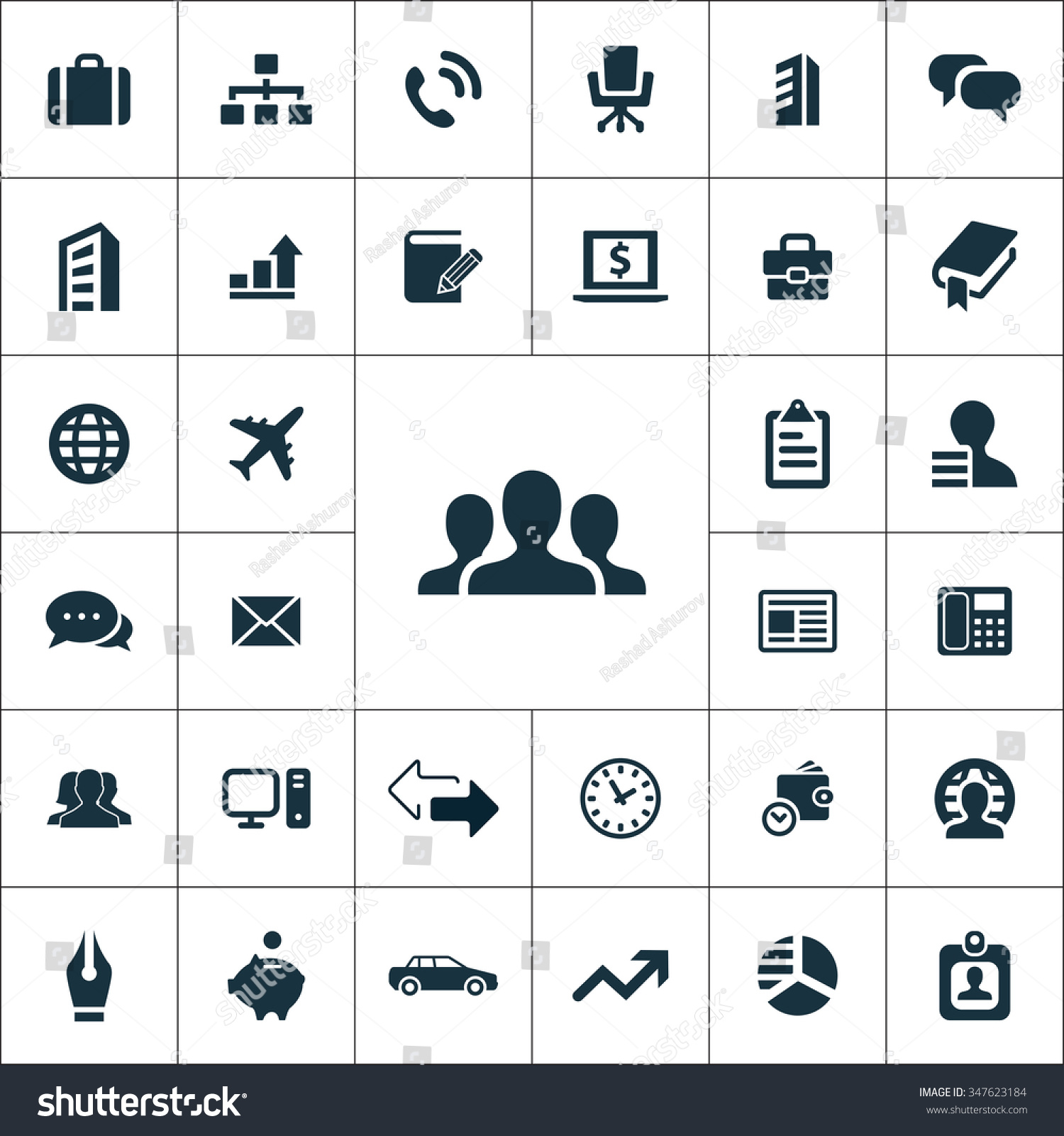 pany Icons Vector Set Stock Vector Royalty Free