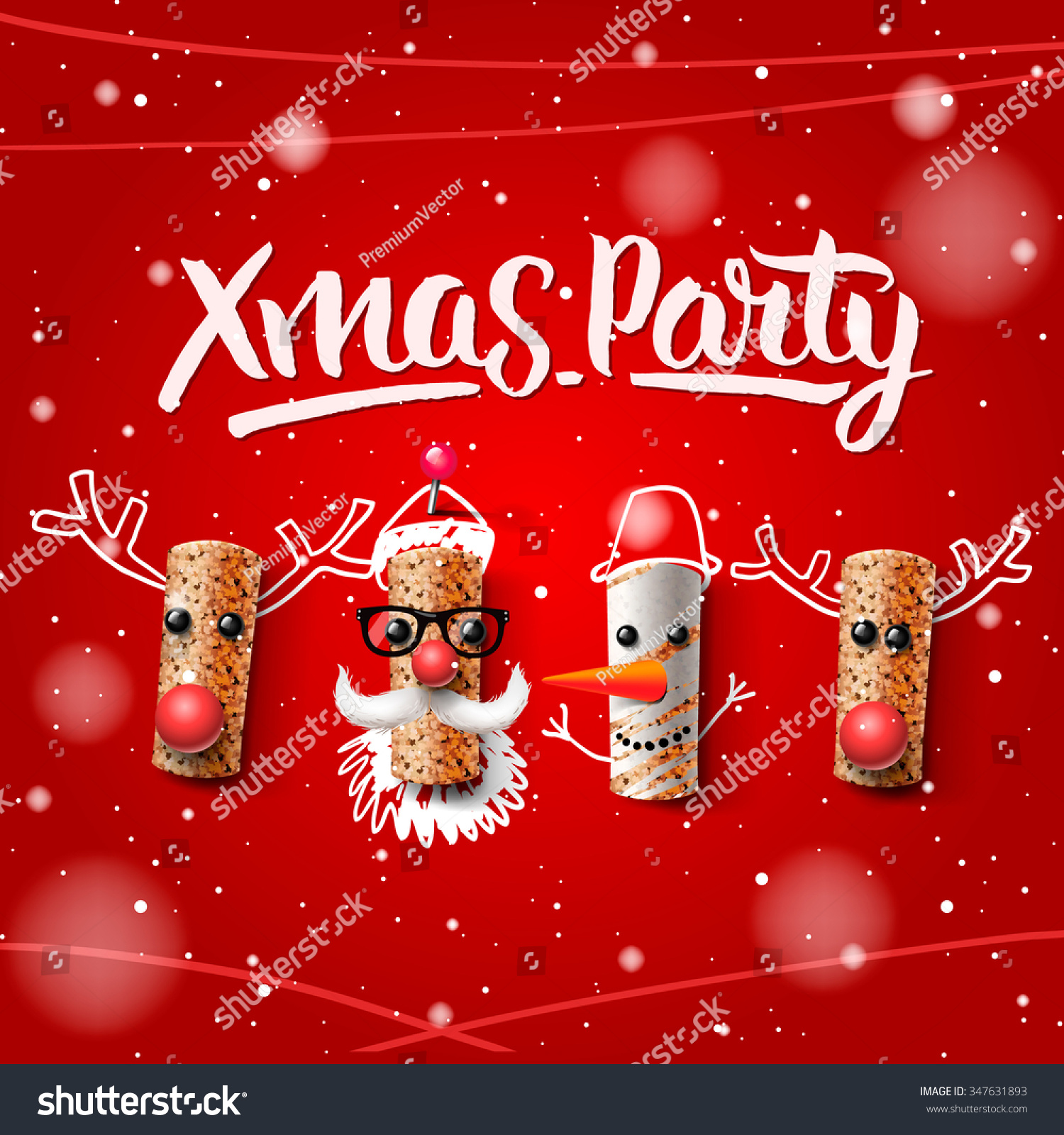 xmas party template christmas characters santa claus snowman save to a lightbox