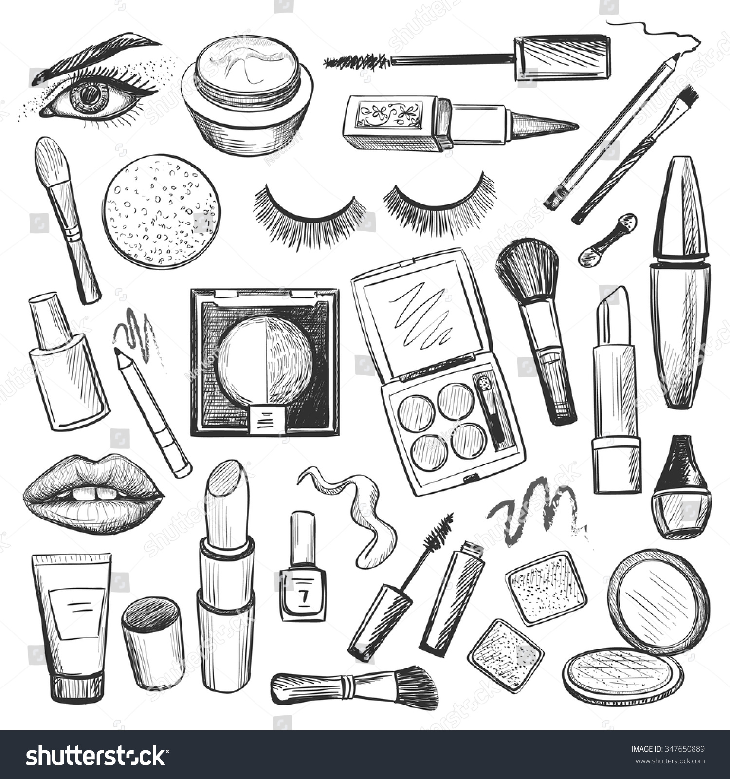 Beauty salon coloring pages printable beauty best free for Nail polish coloring page