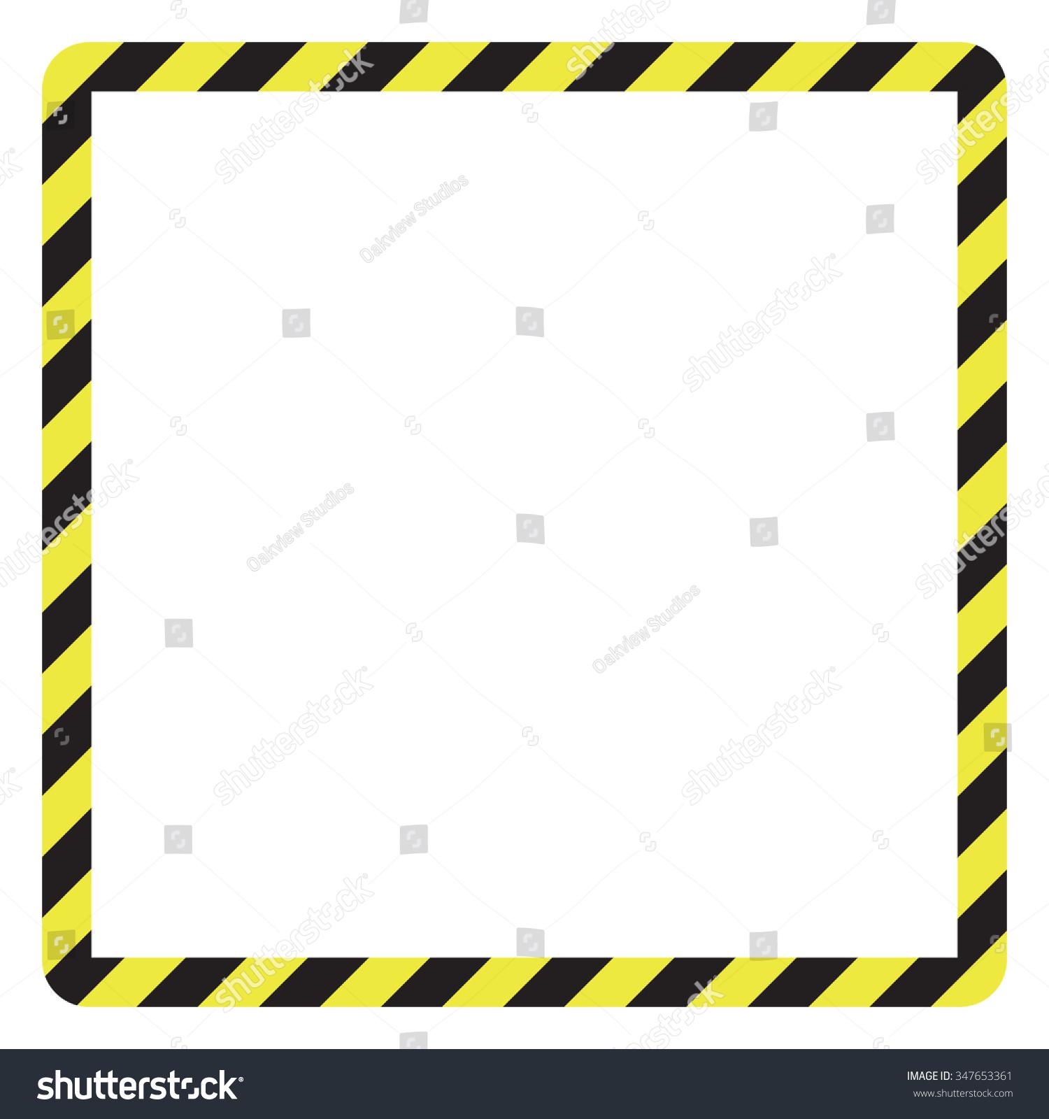 Construction Warning Border Vector Illustration Stock
