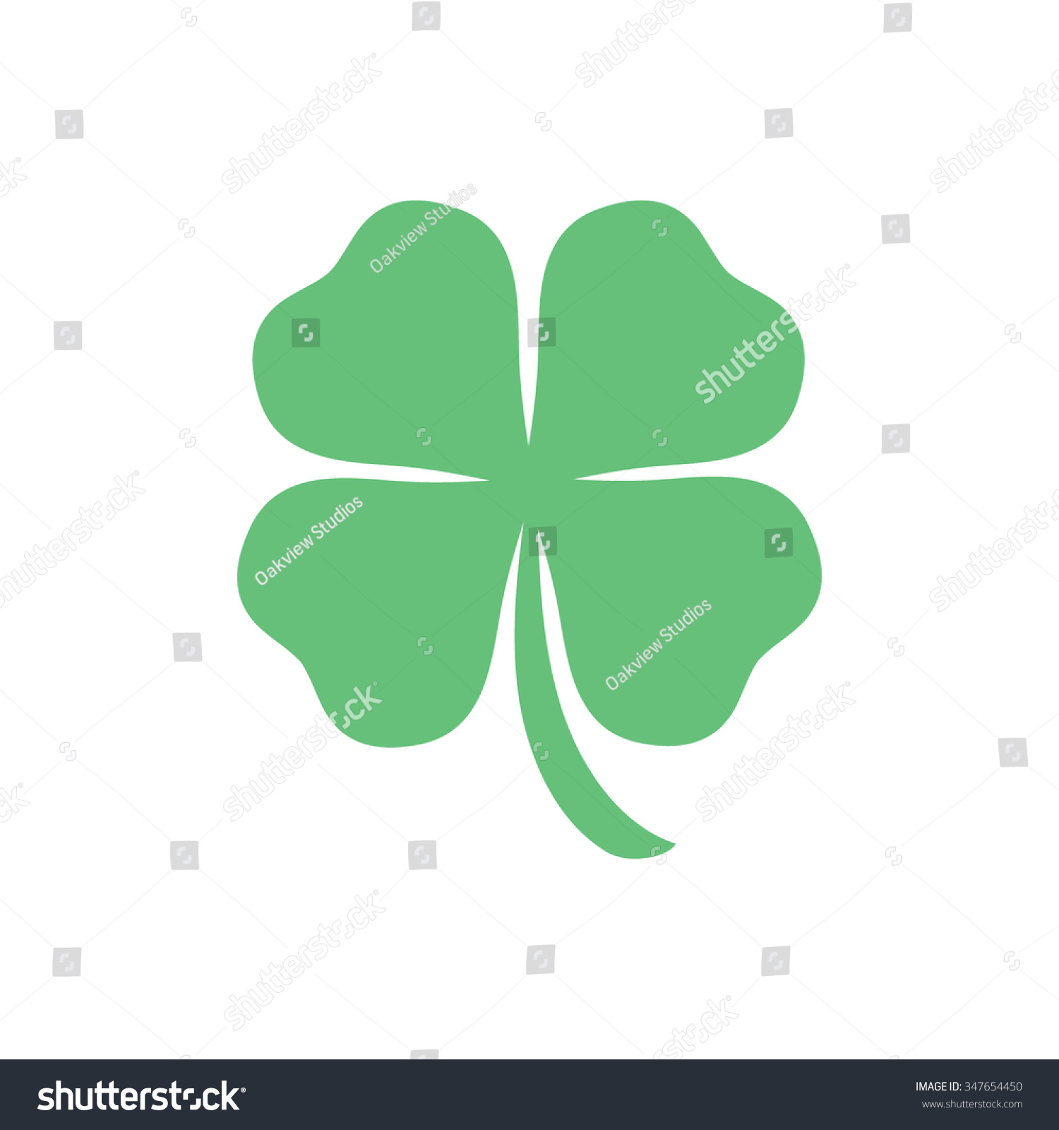 four leaf clover st patricks day stock vector 347654450 shutterstock