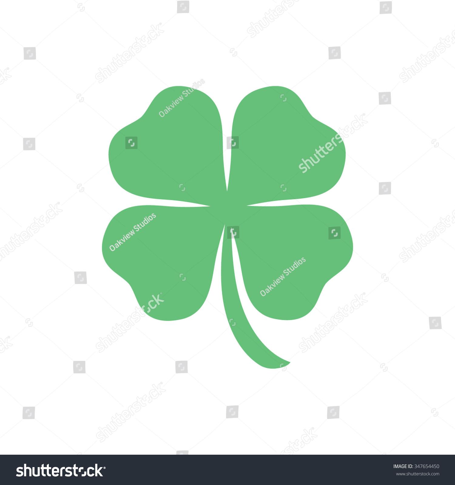 Four Leaf Clover, St Patricks Day Vector - 347654450 ...