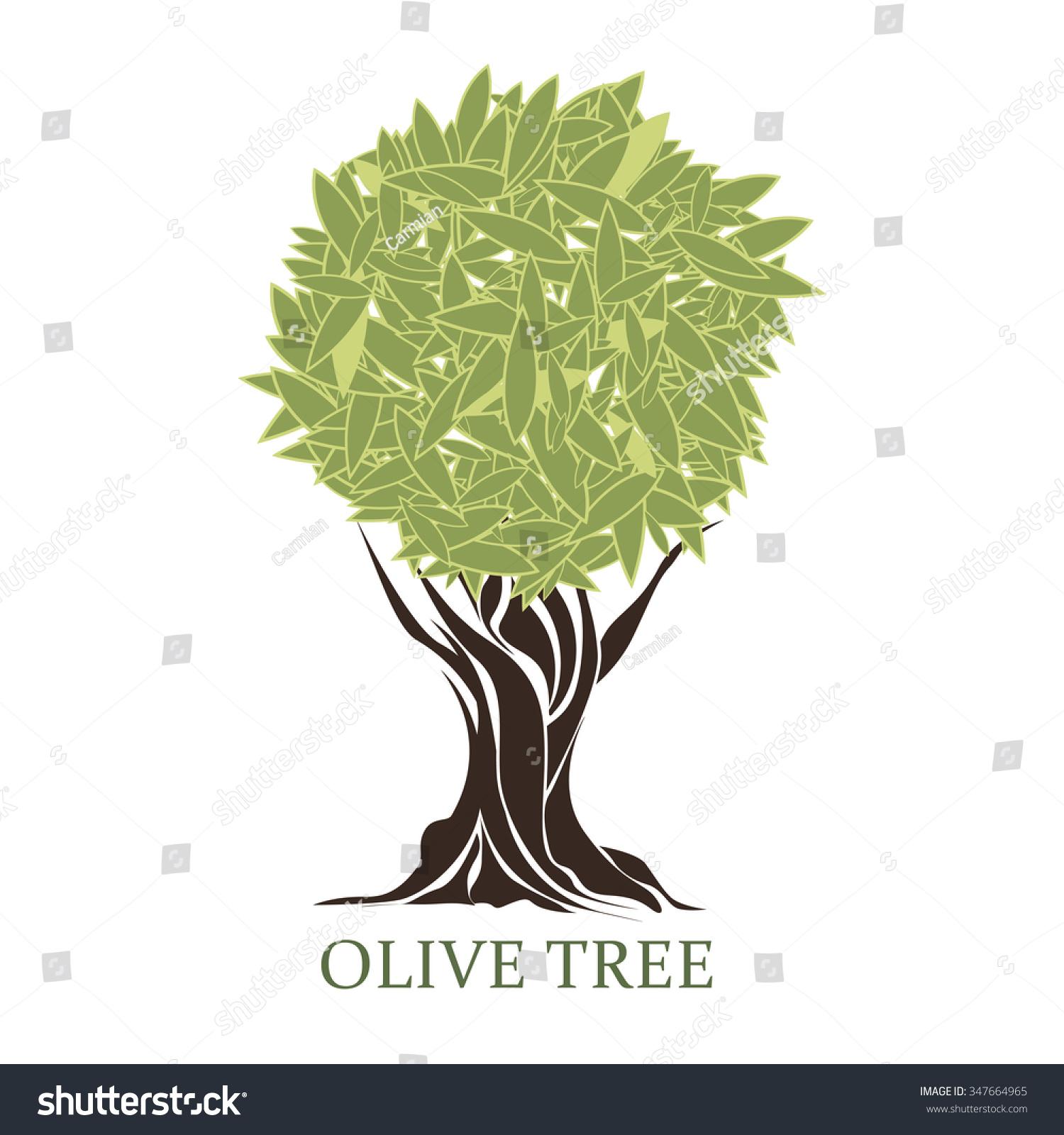 Logo Form Stylized Olive Tree Stock Vector 347664965 - Shutterstock
