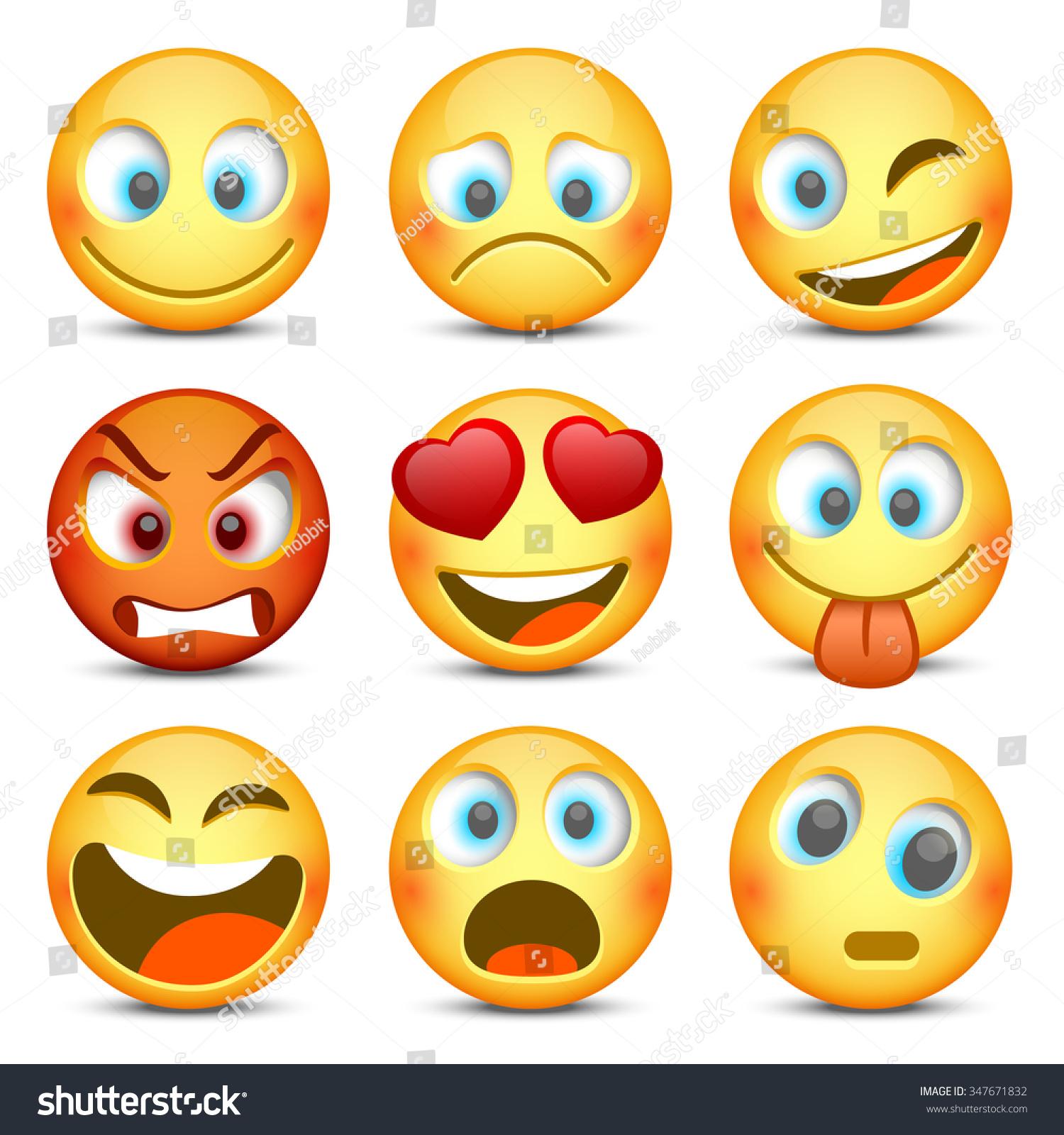 Emoji And Sad Icon Set. Vector Illustration - 347671832 ...