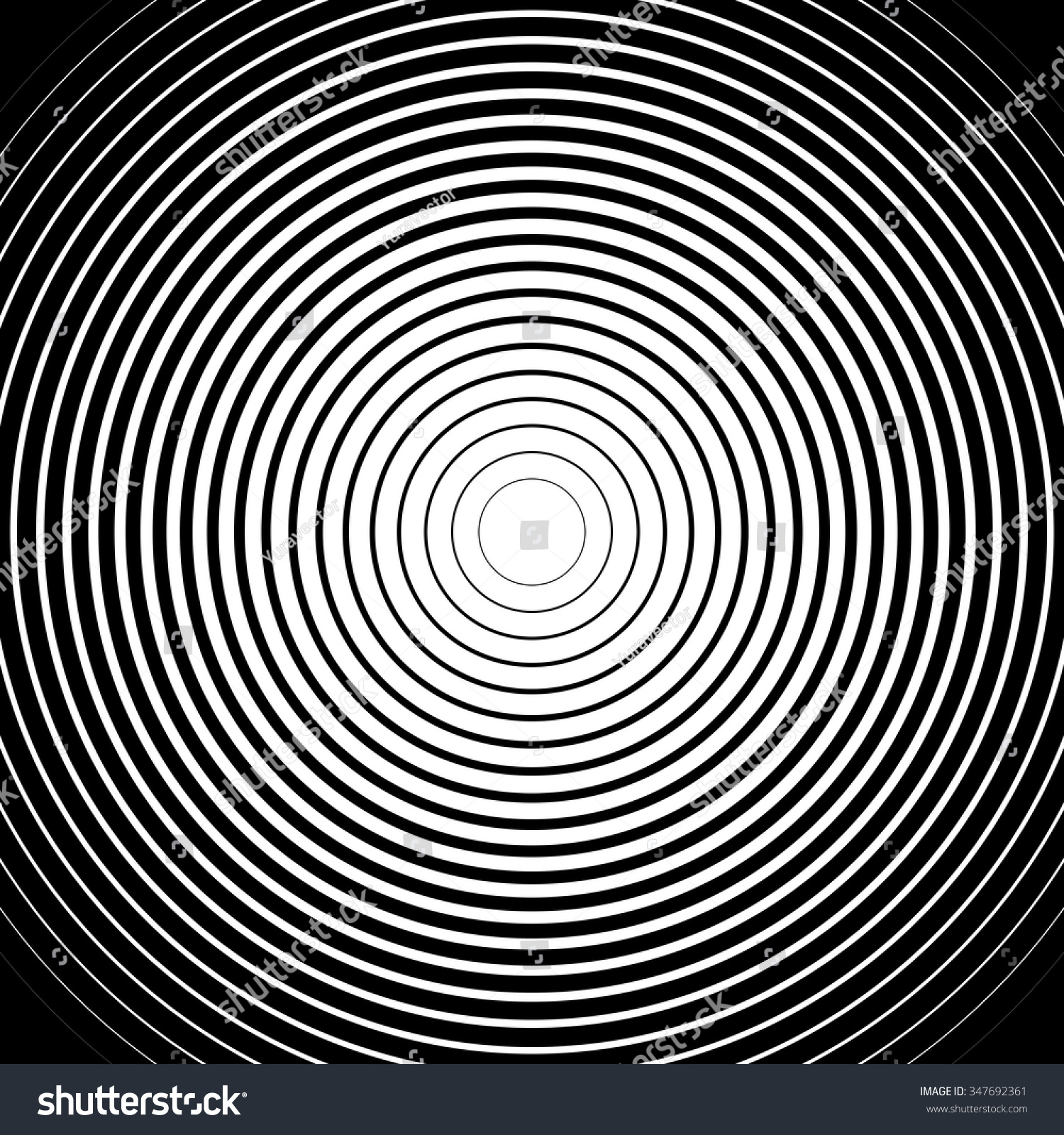 black white rings sound wave wallpaper stock vector