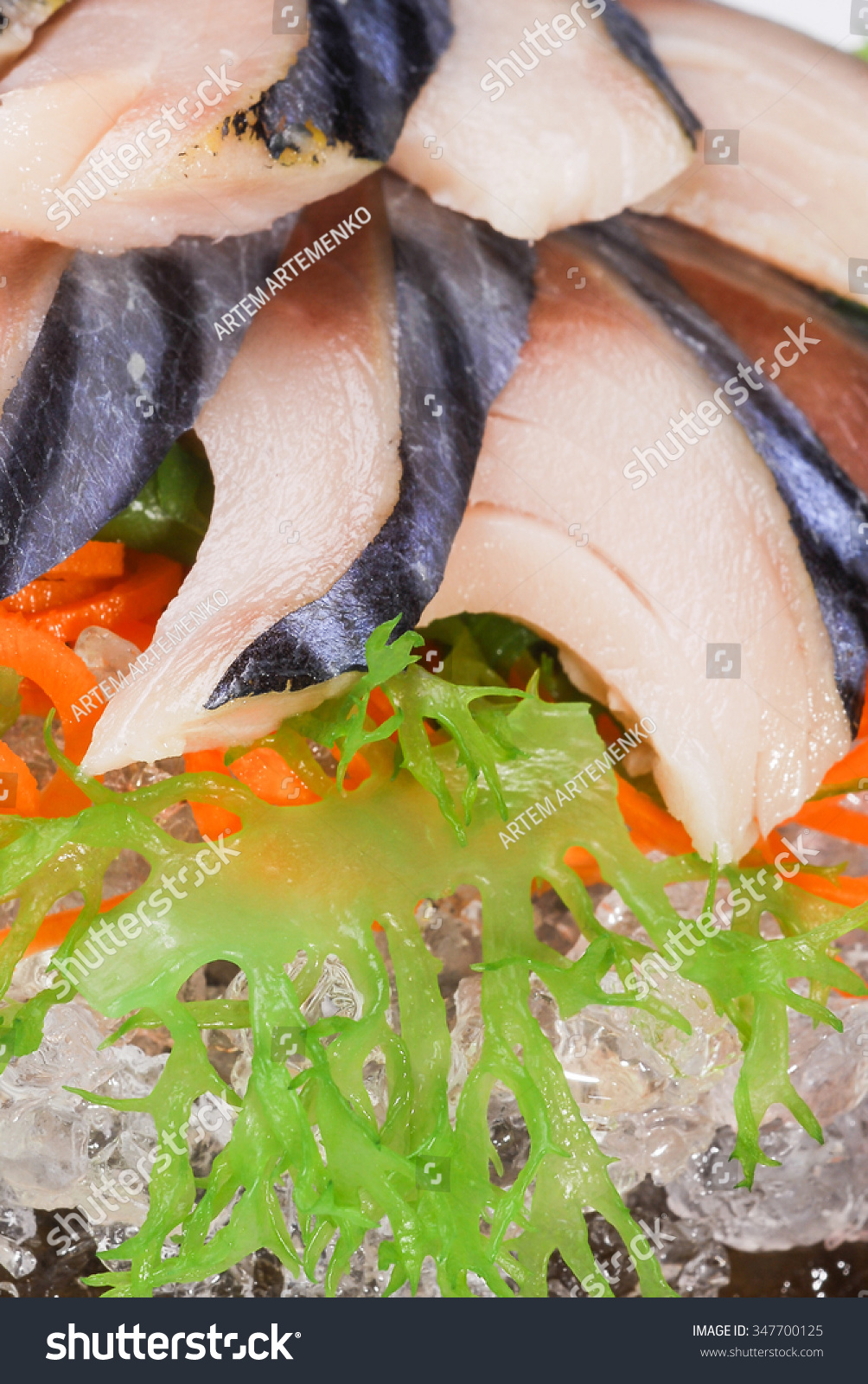 sashimi herring, herring,  macro shallow depth of field #347700125