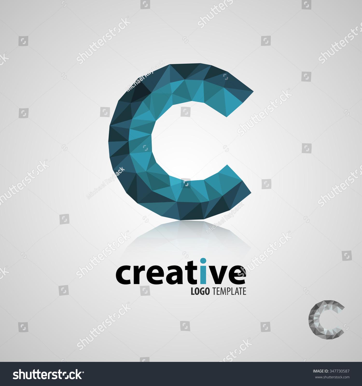creative logo design letter c logo stock vector 347730587