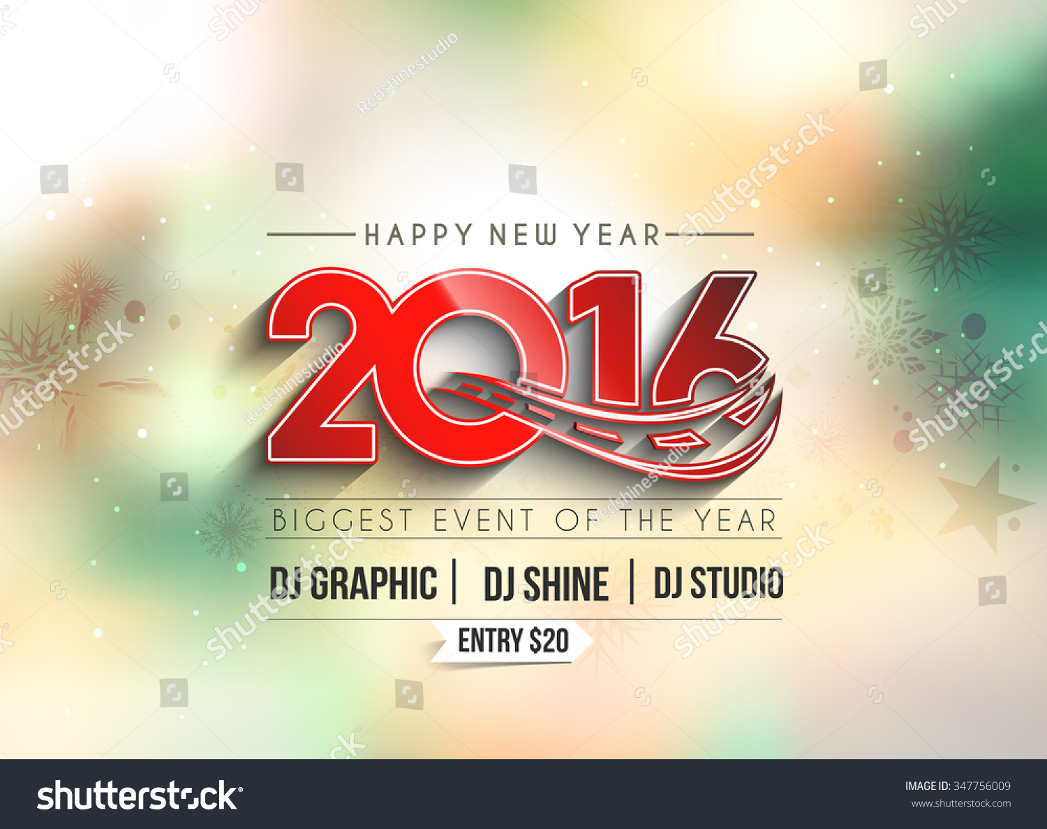 New Year Party Flyer Poster Template Design Vector – New Year Poster Template