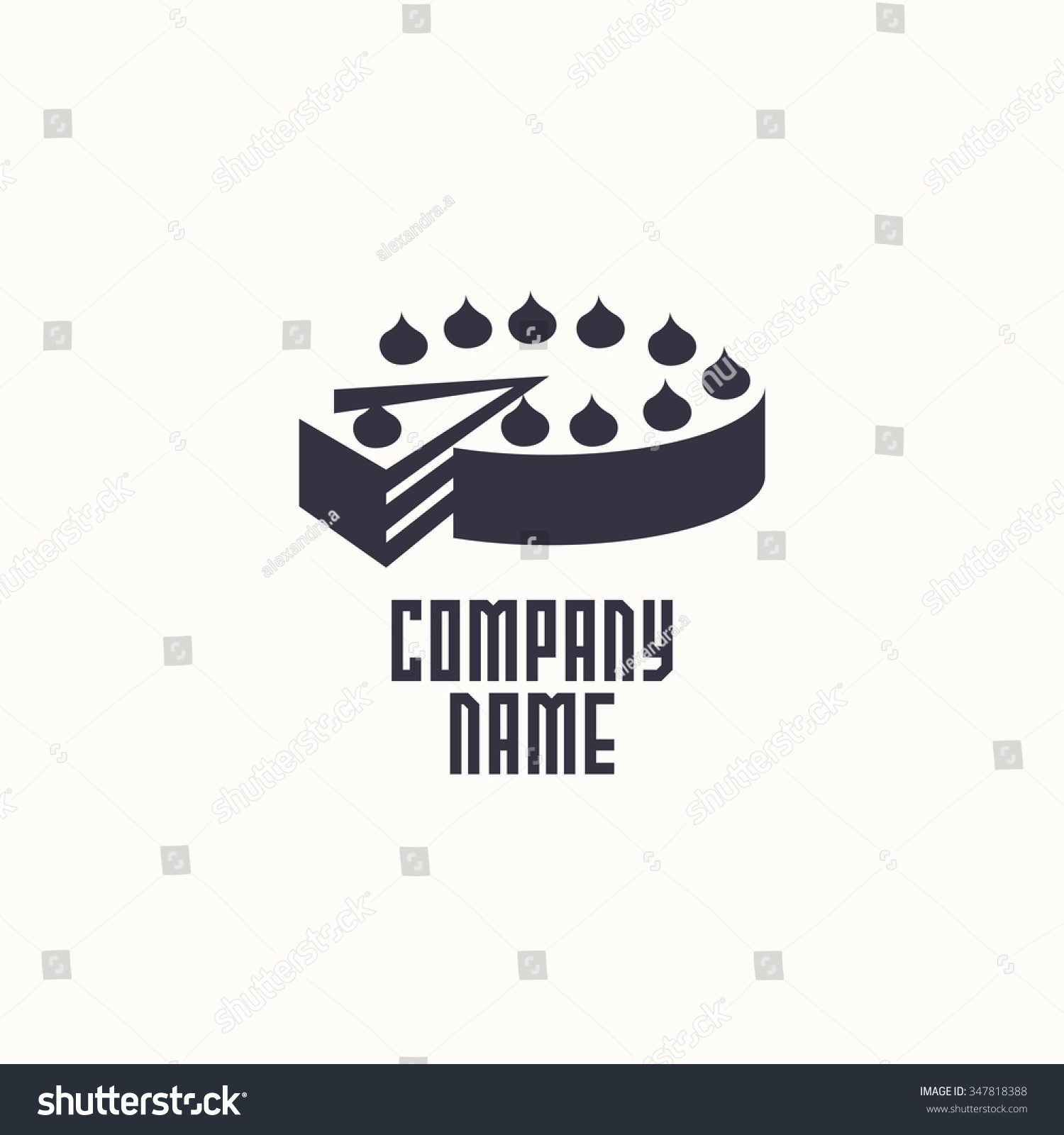 Cake Logo Design Psd : Logo Cake. Vector Design Logo. Logo For Bakery Shop ...