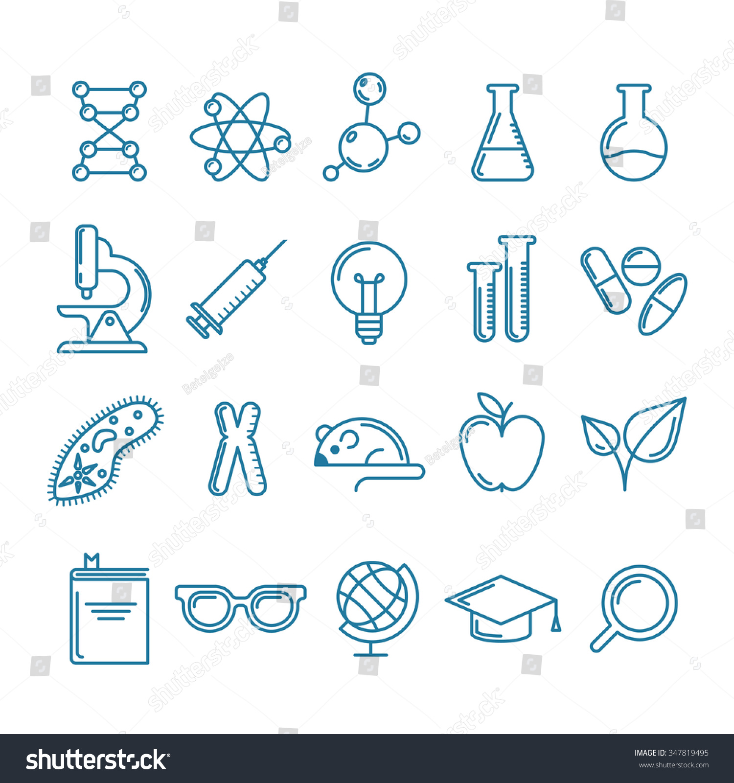 A Starter S Guide To Design Clinical Research Coordinator: Vector Outline Icons Set And Design Elements. Research