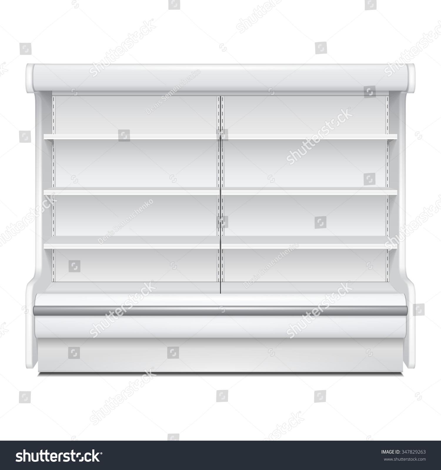 Cooled Regal Rack Refrigerator Wall Cabinet Stock Vector 347829263 Shutterstock